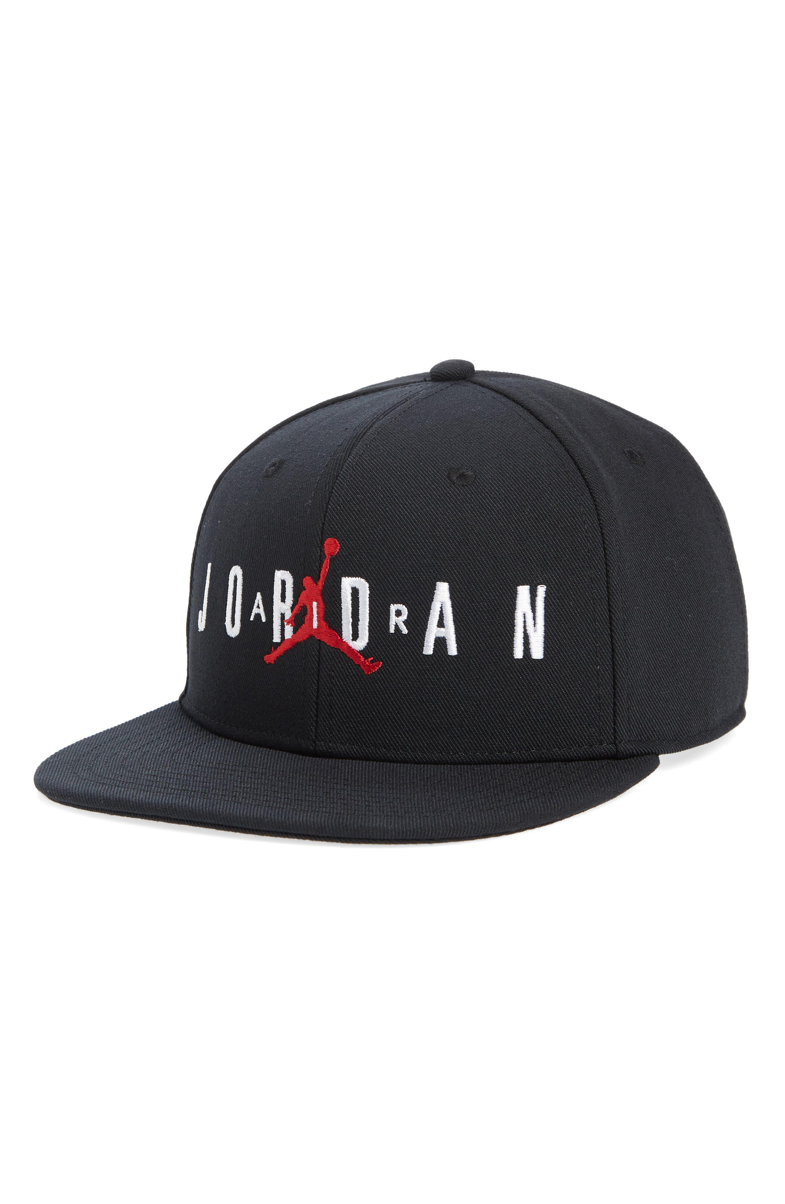 Jordan Jumpman Air Baseball Cap,                             Main thumbnail 1, color,                             BLACK