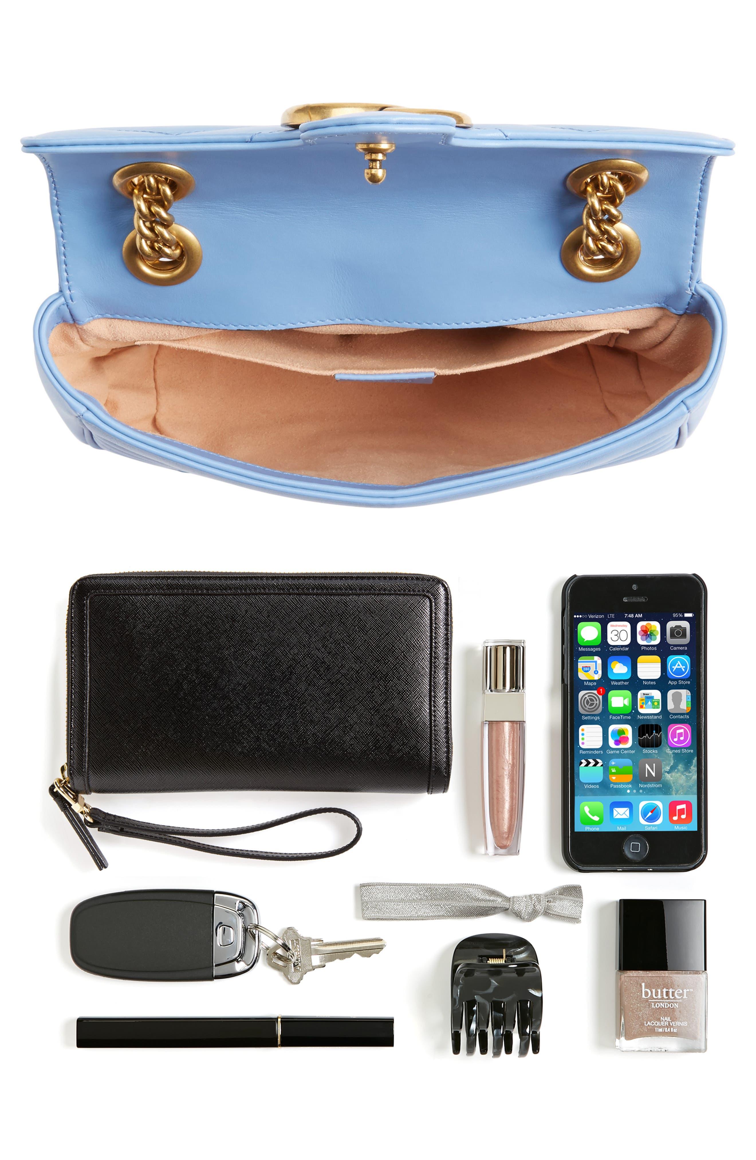 Mini GG Marmont 2.0 Matelassé Leather Shoulder Bag,                             Alternate thumbnail 7, color,                             452