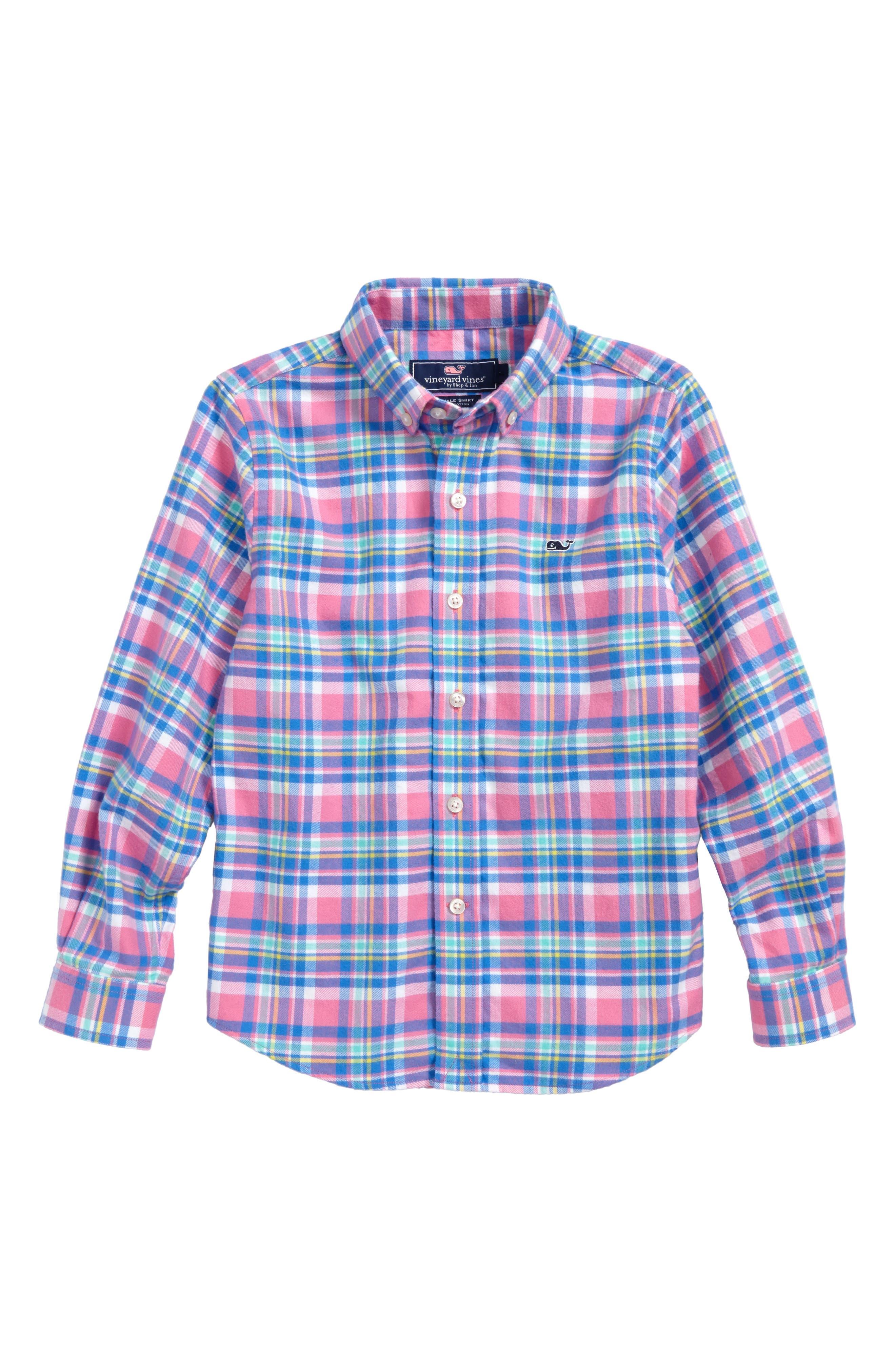 Cape Haze Plaid Flannel Shirt,                         Main,                         color, 400