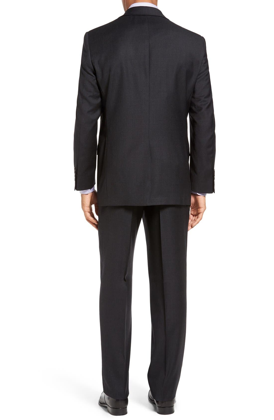 Chicago Classic Fit Solid Wool Suit,                             Alternate thumbnail 3, color,                             010