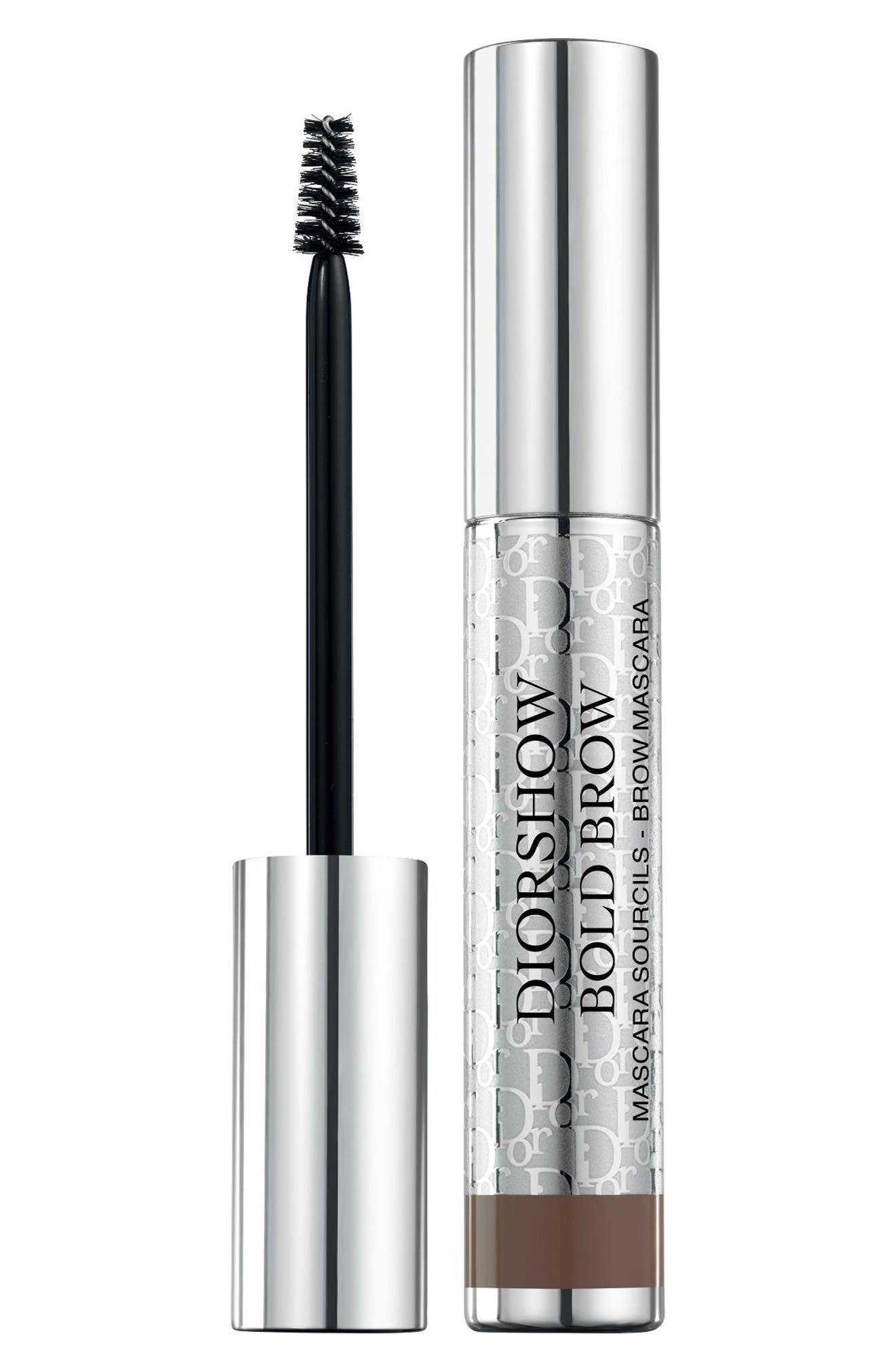 Diorshow Bold Brow Instant Volumizing Brow Mascara,                         Main,                         color, 002 DARK