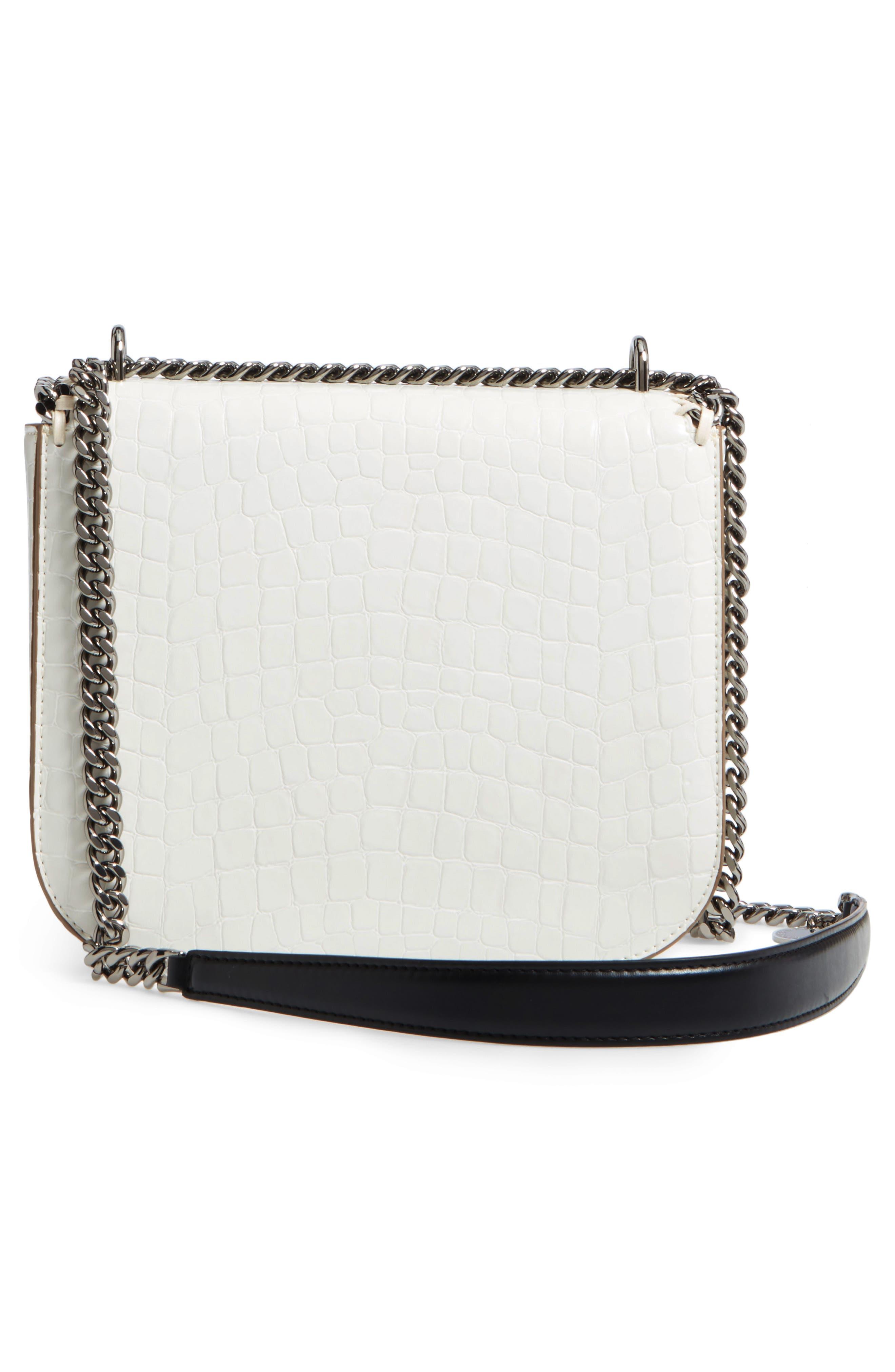 Falabella Box Faux Leather Shoulder Bag,                             Alternate thumbnail 6, color,