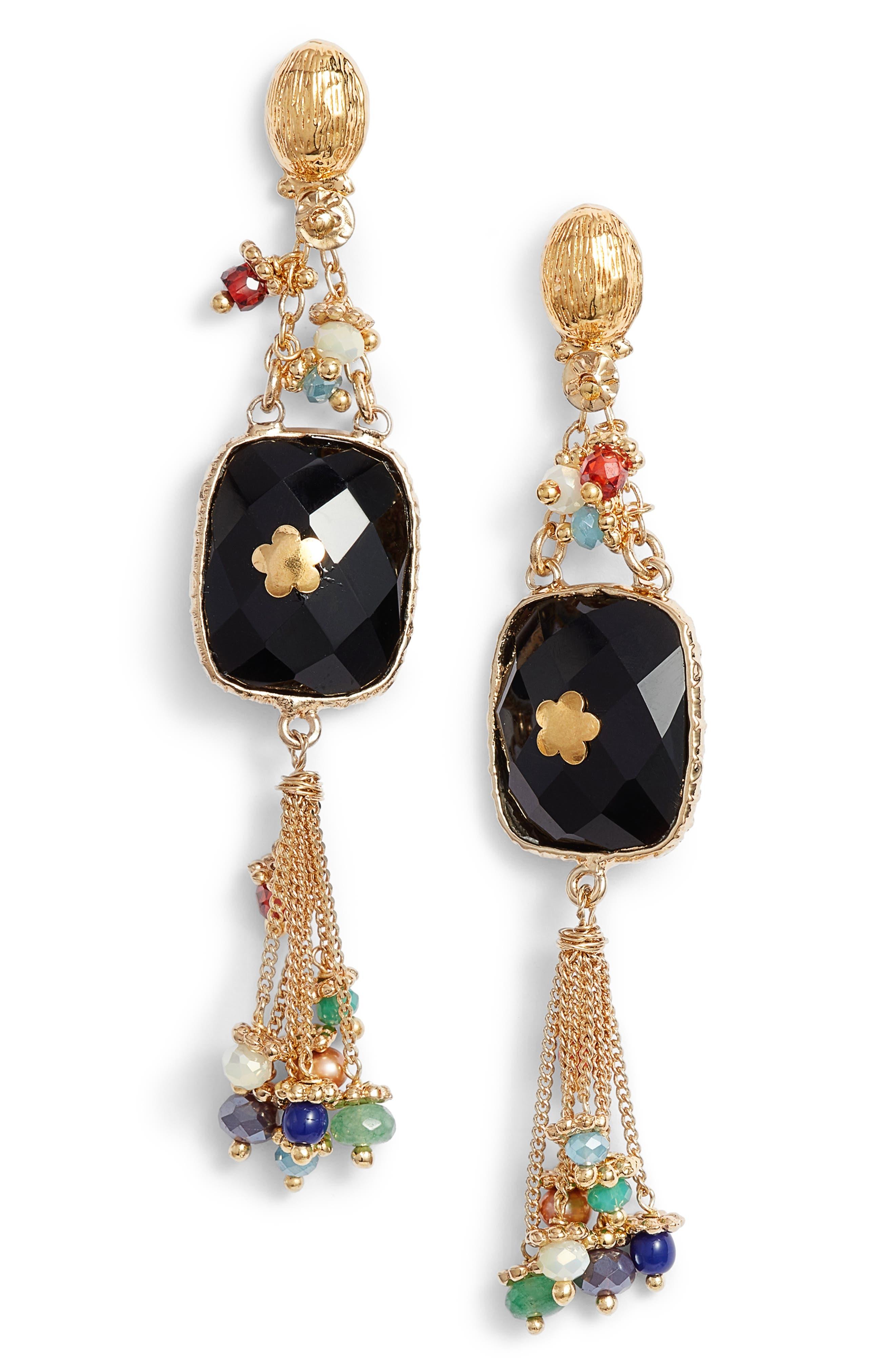 Happy Serti Drop Earrings,                         Main,                         color, 001