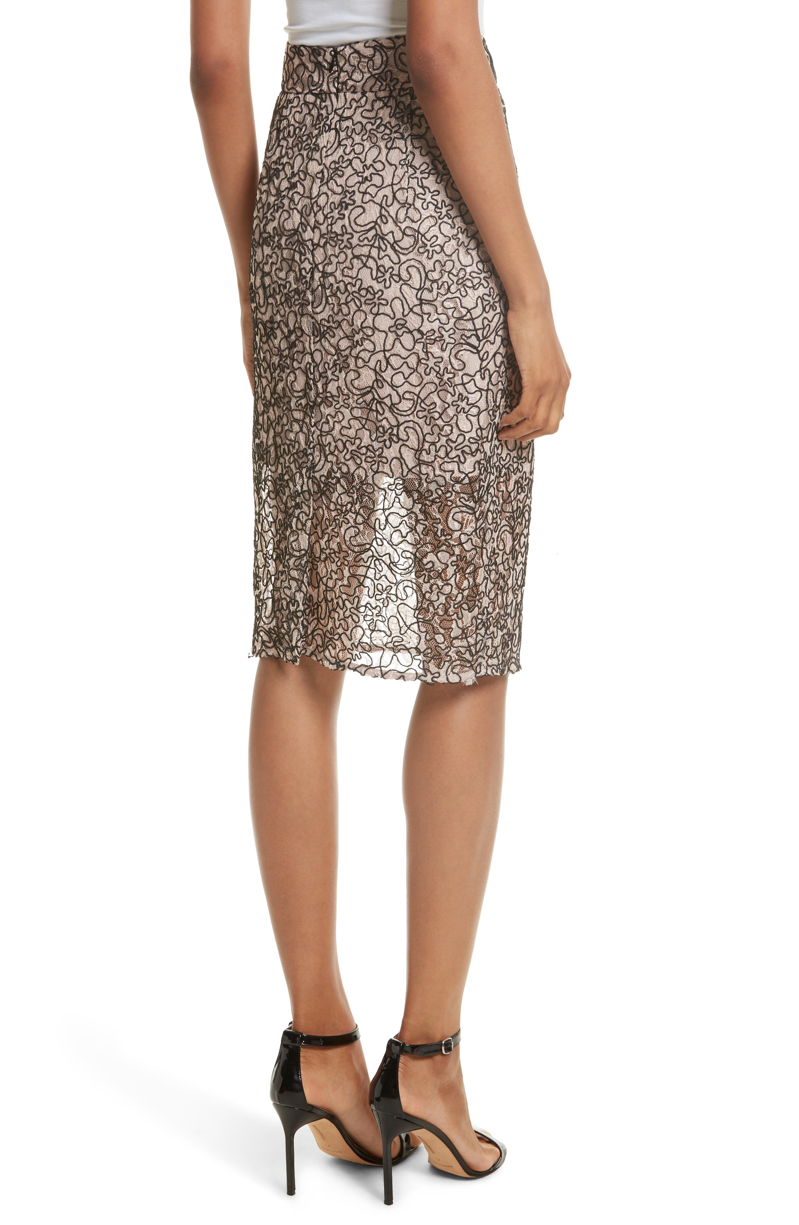 Corded Lace Pencil Skirt,                             Alternate thumbnail 2, color,                             653