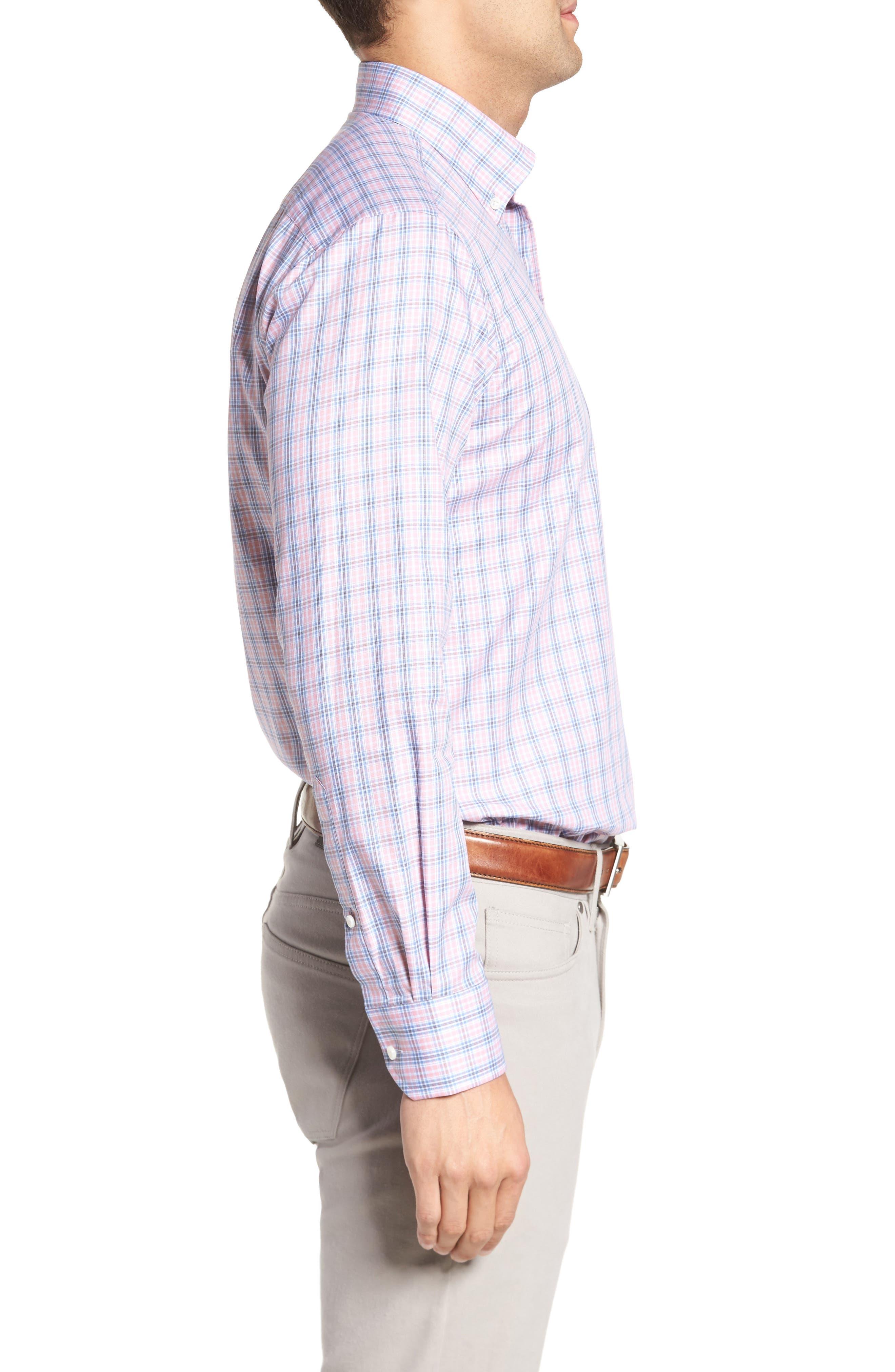 Peter Millar Desert Check Regular Fit Sport Shirt,                             Alternate thumbnail 3, color,                             617