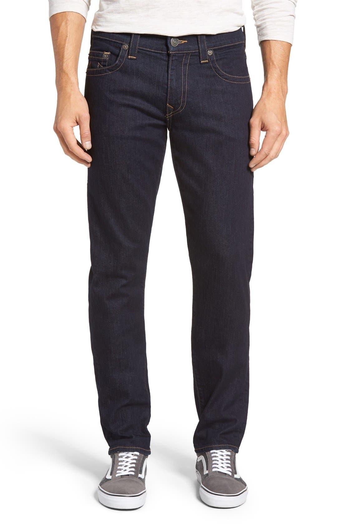 Geno Straight Leg Jeans,                             Alternate thumbnail 5, color,                             403