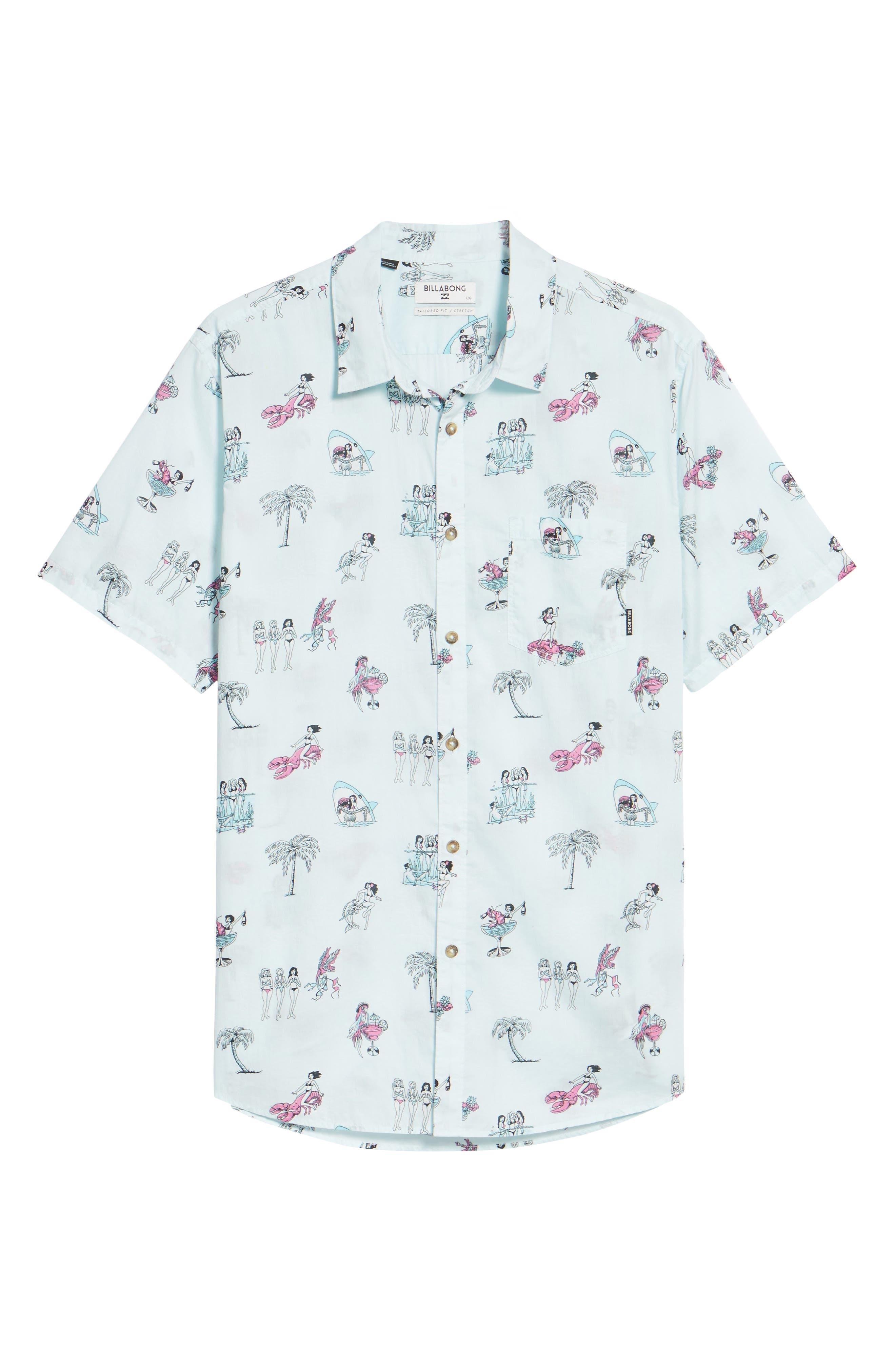 Sundays Woven Shirt,                             Alternate thumbnail 6, color,                             400