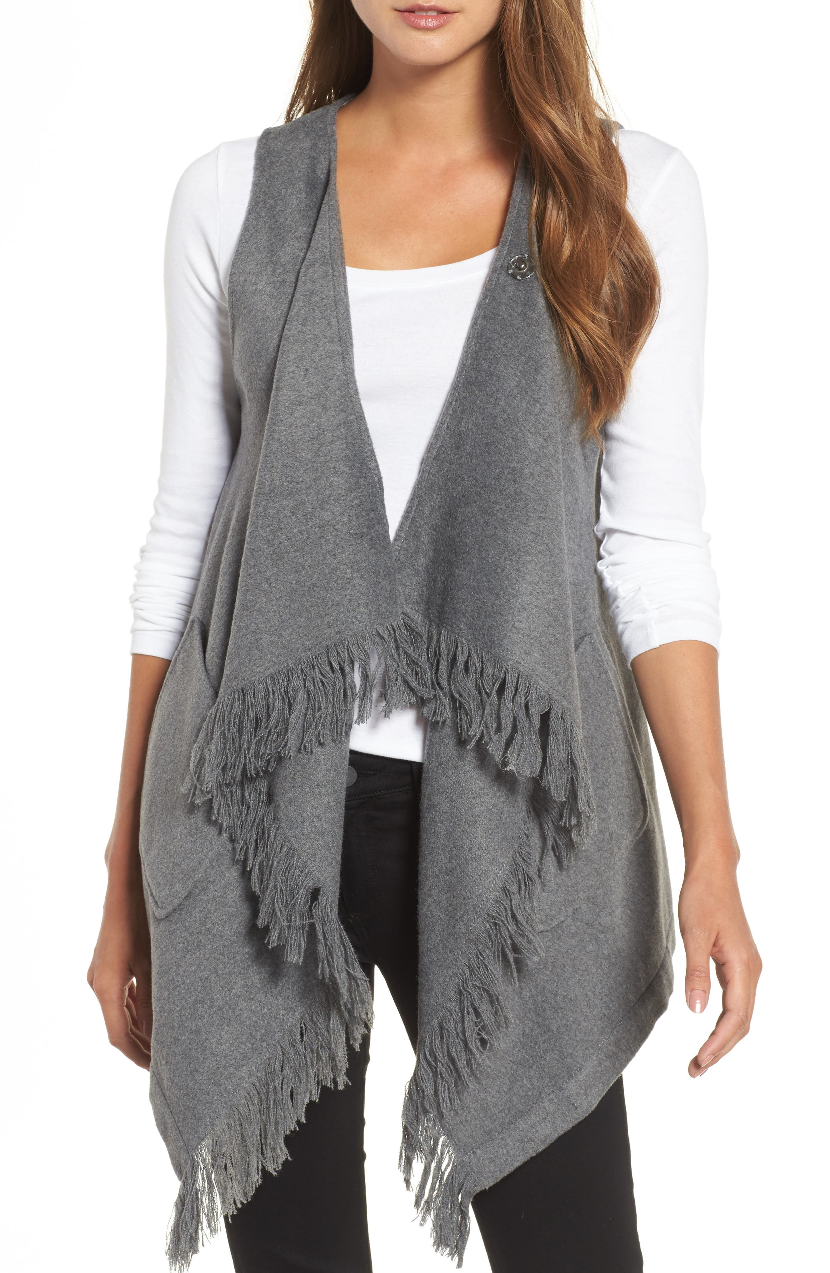 Fringe Vest,                         Main,                         color, 099