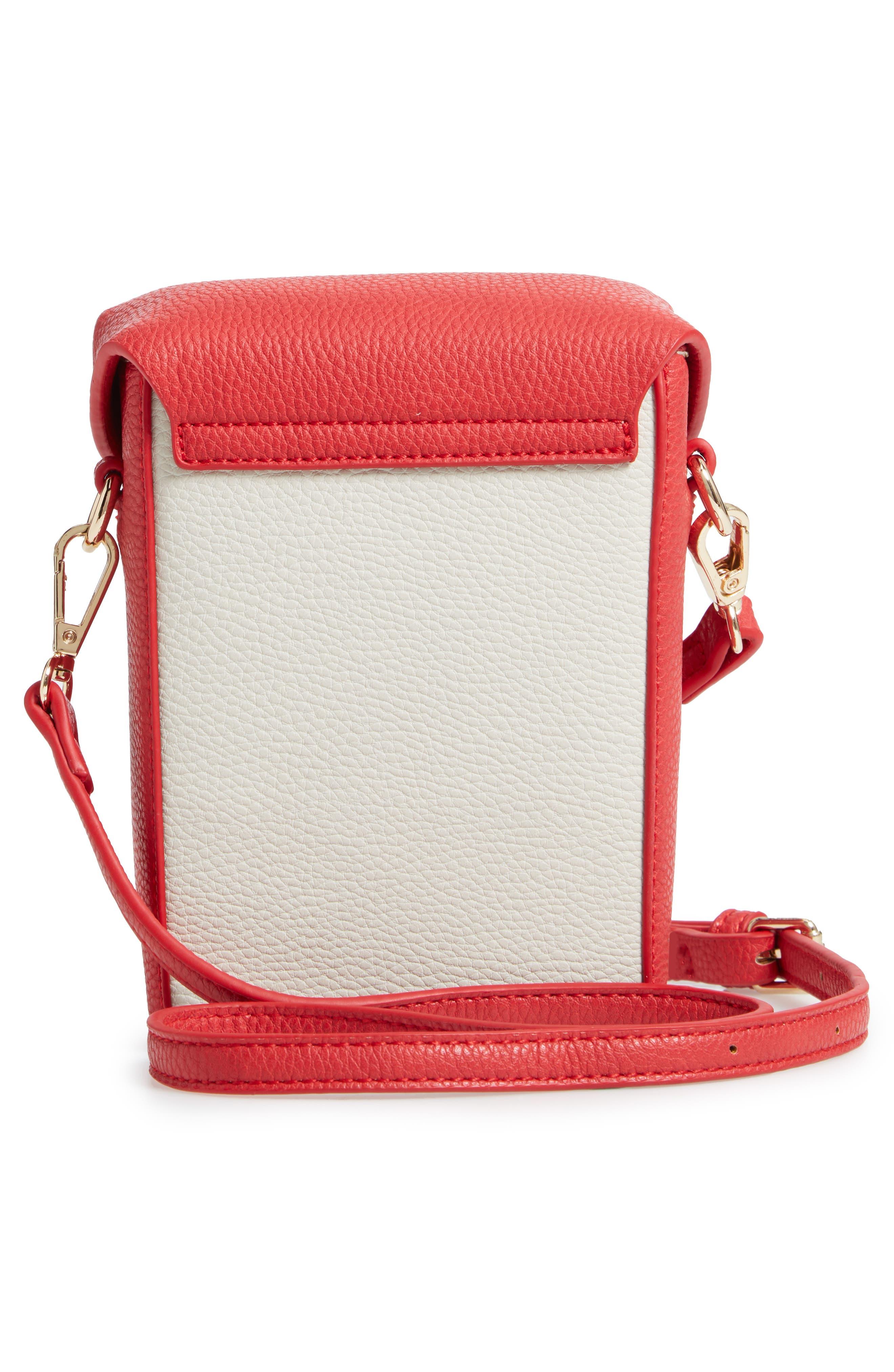 JULES KAE,                             Tabitha Faux Leather Crossbody Bag,                             Alternate thumbnail 3, color,                             100