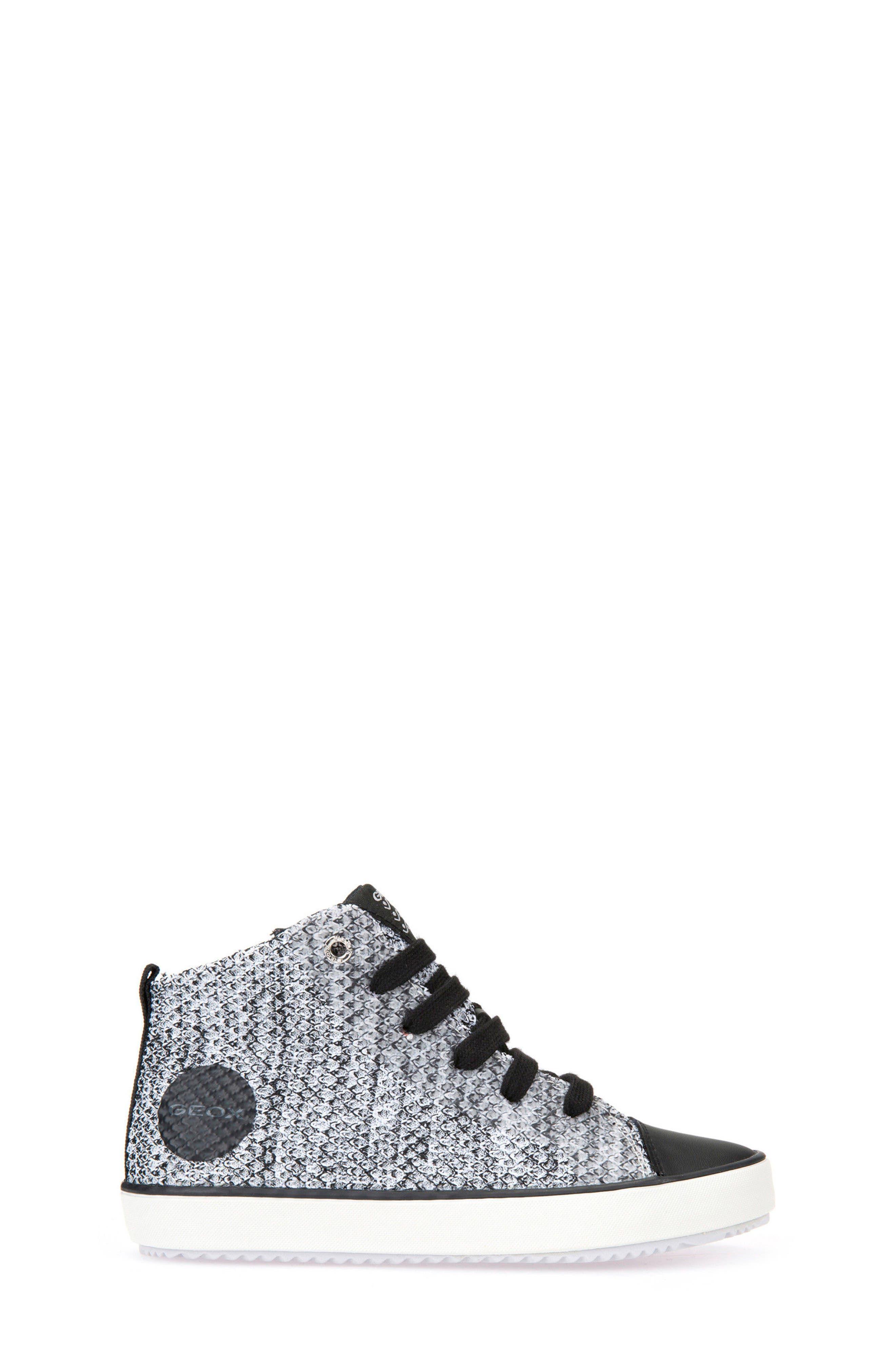 Alonisso Knit Mid Top Sneaker,                             Alternate thumbnail 3, color,                             WHITE/ BLACK