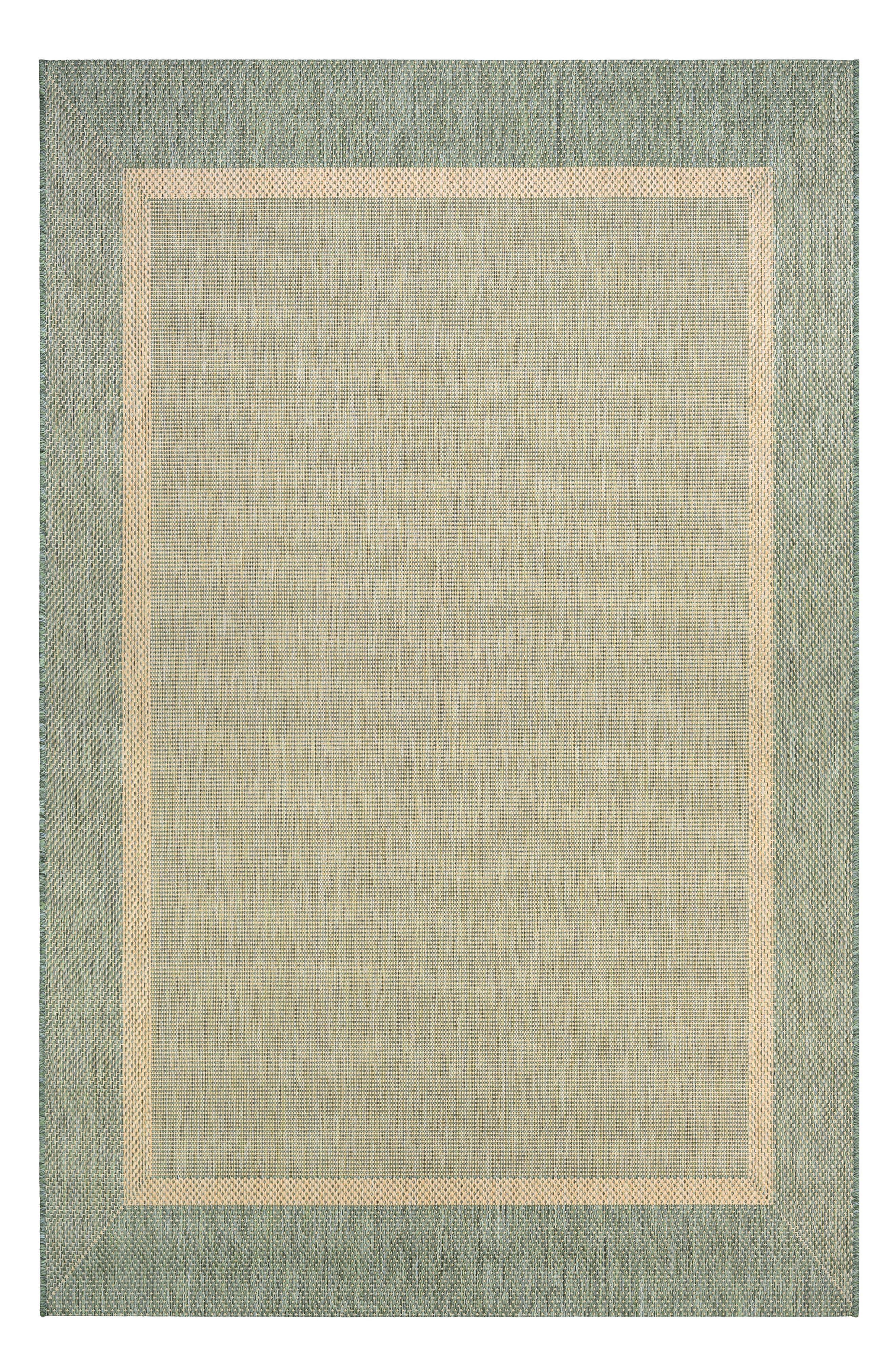 Stria Texture Indoor/Outdoor Rug,                             Main thumbnail 1, color,                             NATURAL/ GREEN