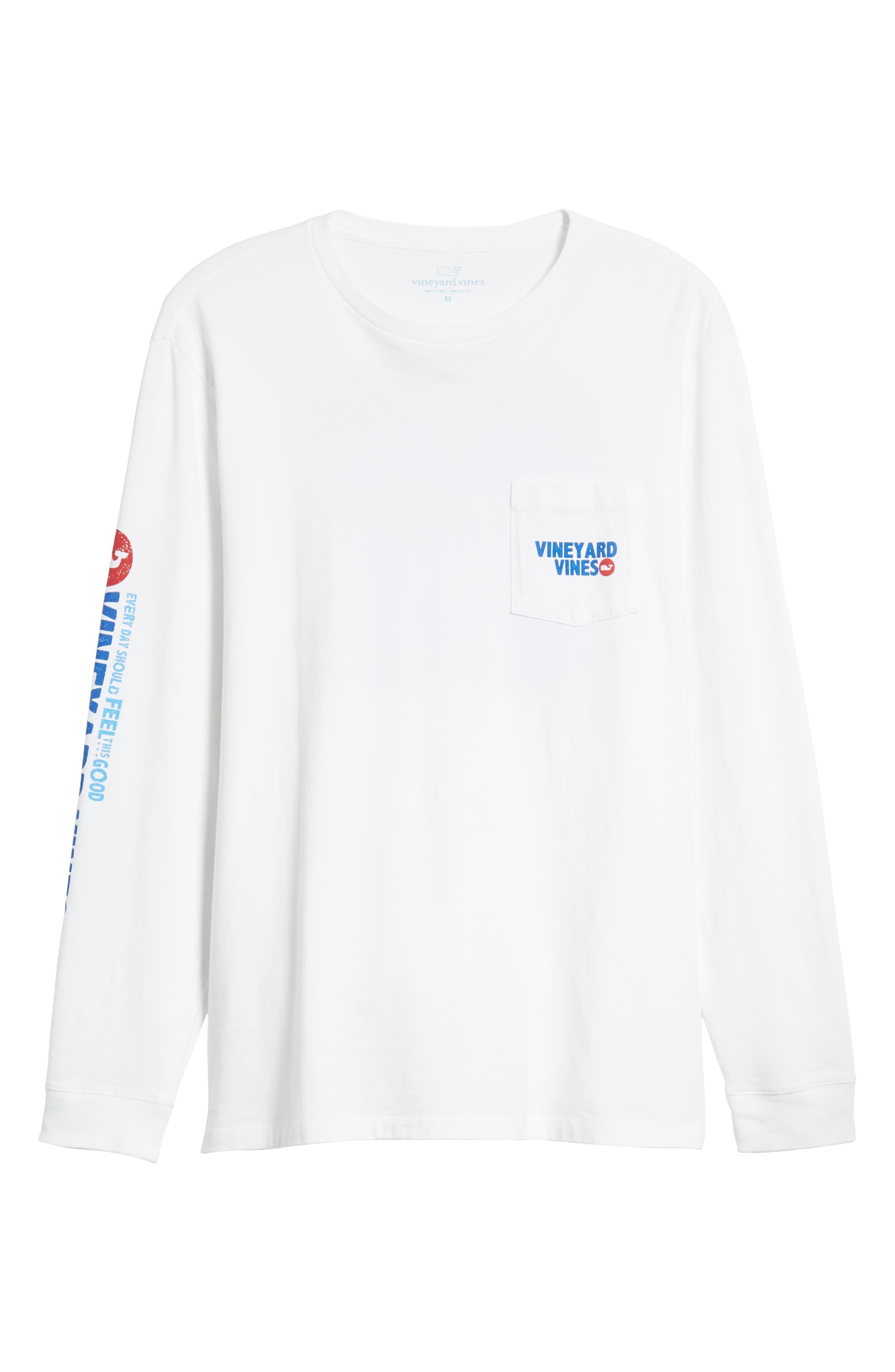 RW&B Story Graphic Long Sleeve Pocket T-Shirt,                             Alternate thumbnail 6, color,                             100