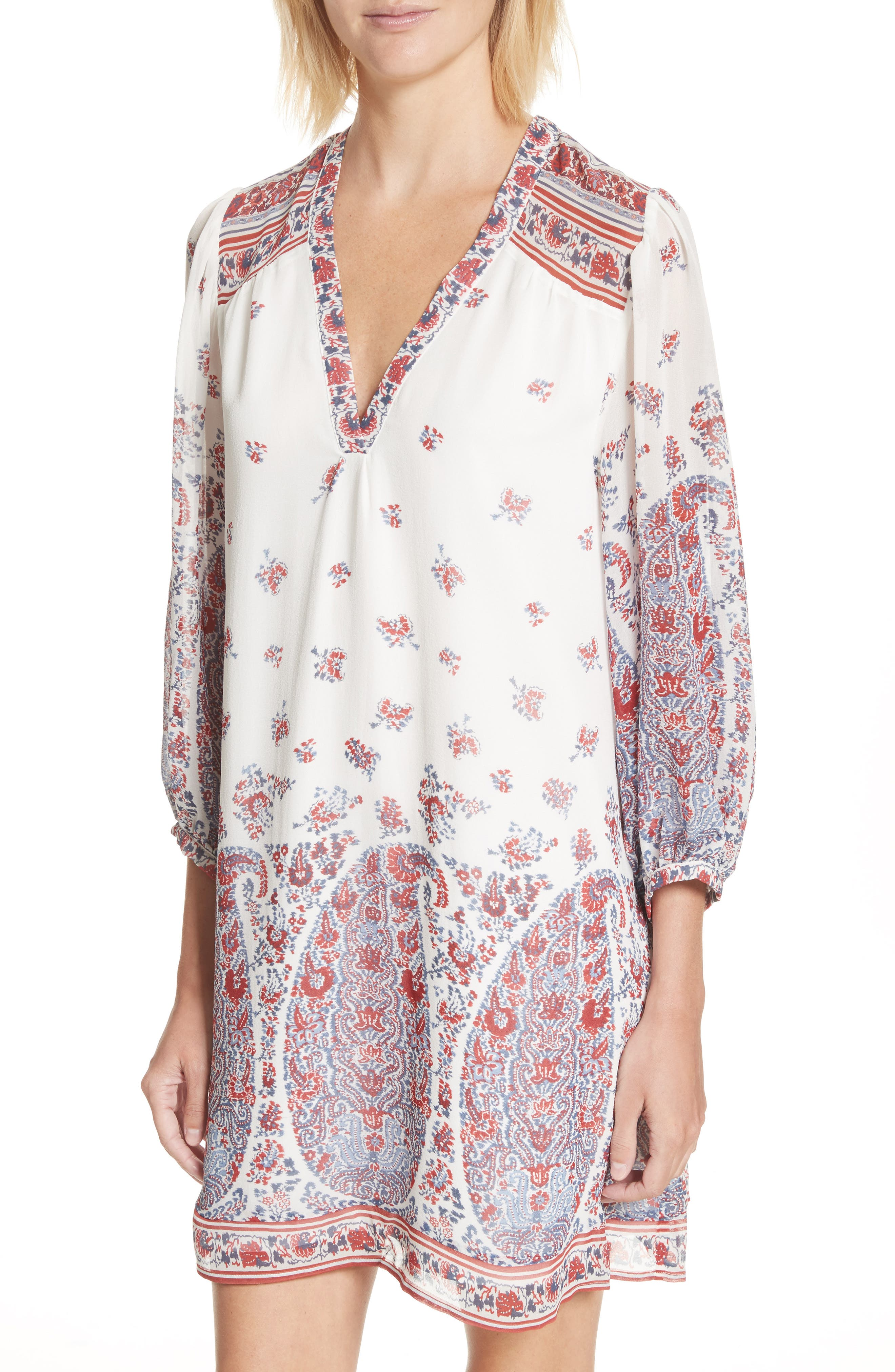 Ofelie Silk Shirtdress,                             Alternate thumbnail 4, color,                             641
