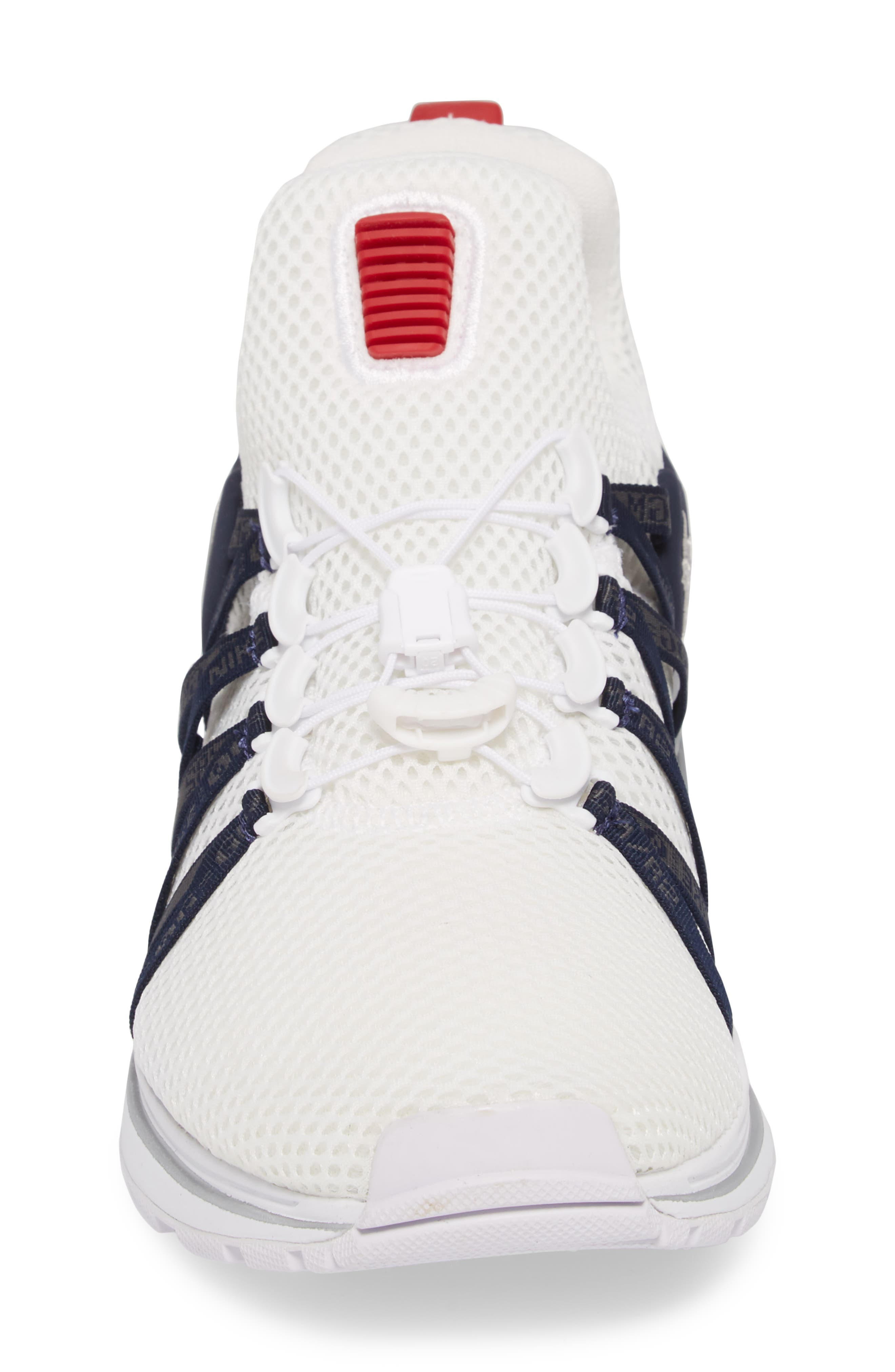 Shox Gravity Sneaker,                             Alternate thumbnail 4, color,                             WHITE/ METALLIC SILVER