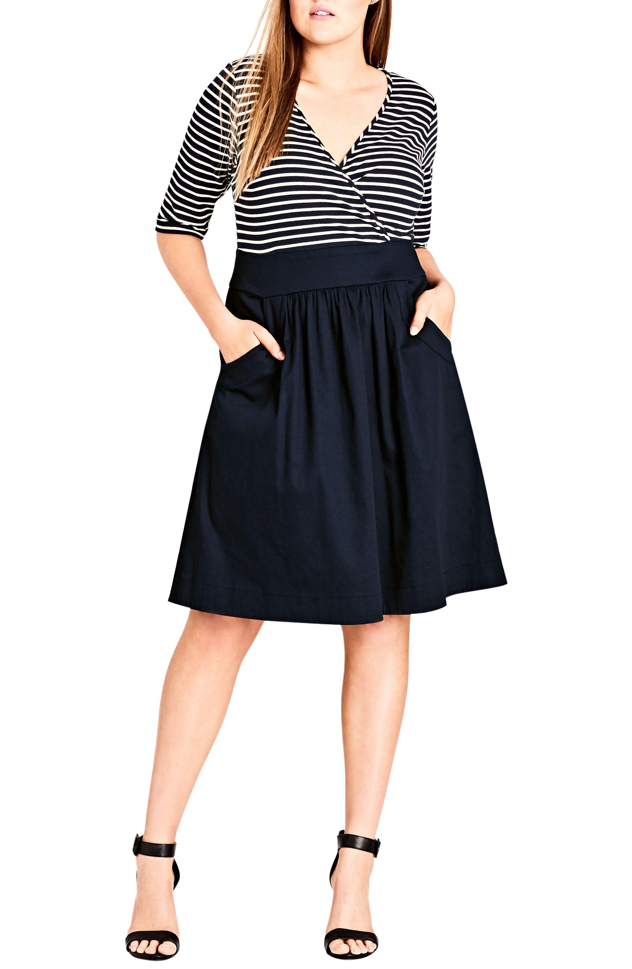 Ahoy Dress,                             Main thumbnail 1, color,                             406
