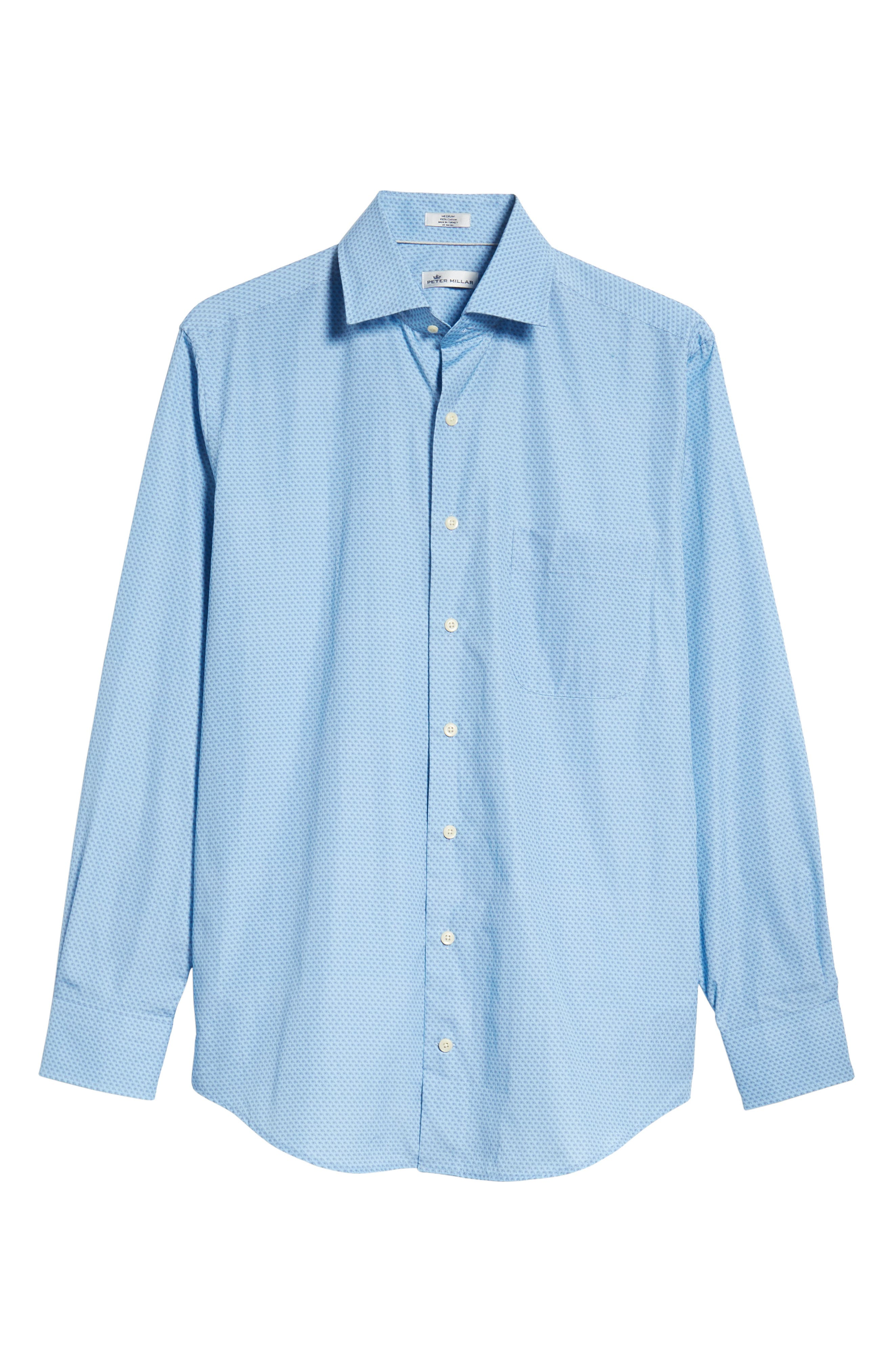 Niblick Regular Fit Sport Shirt,                             Alternate thumbnail 5, color,                             BLUE