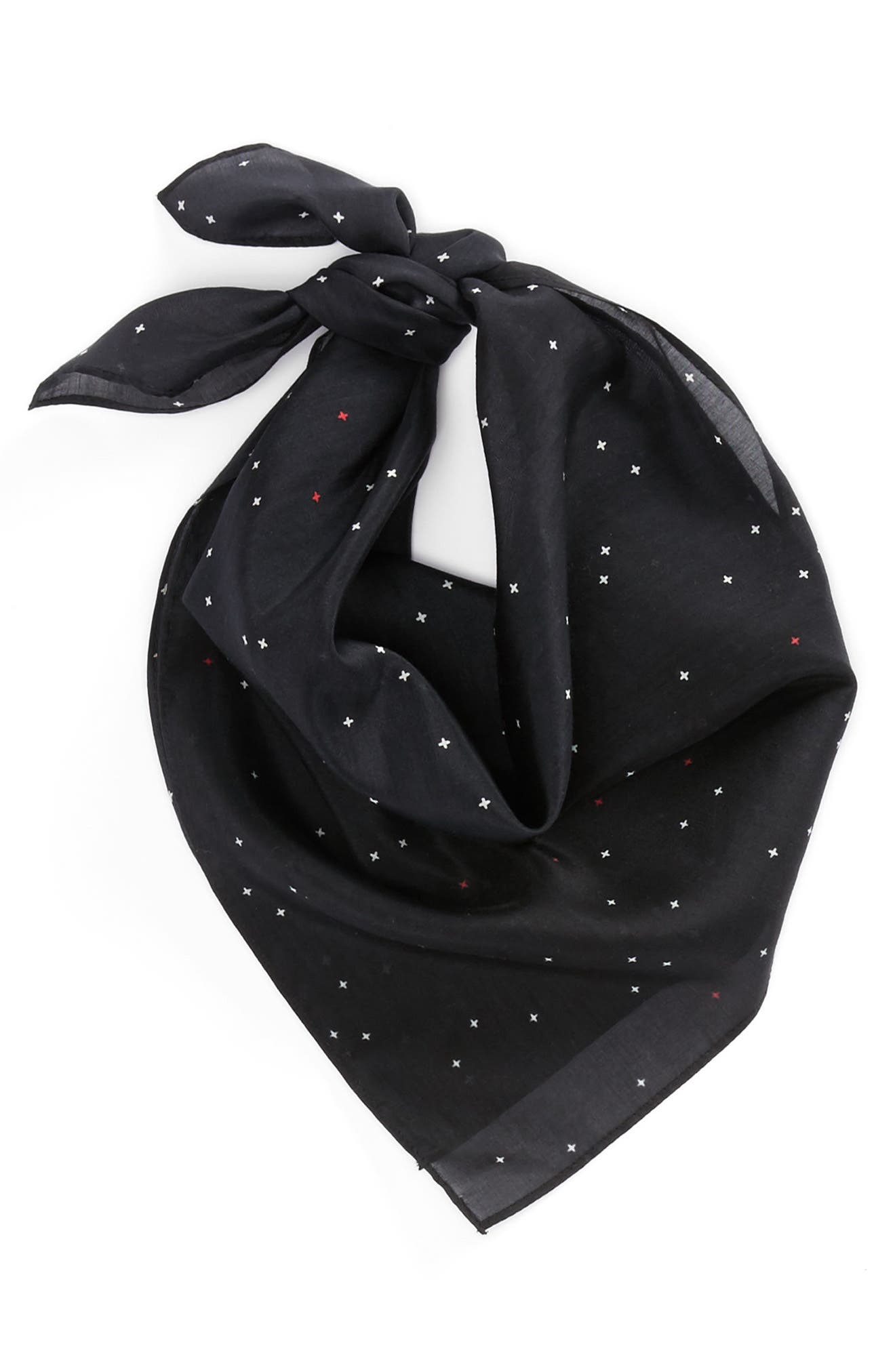 RAG & BONE,                             Cross Bandana,                             Alternate thumbnail 3, color,                             001