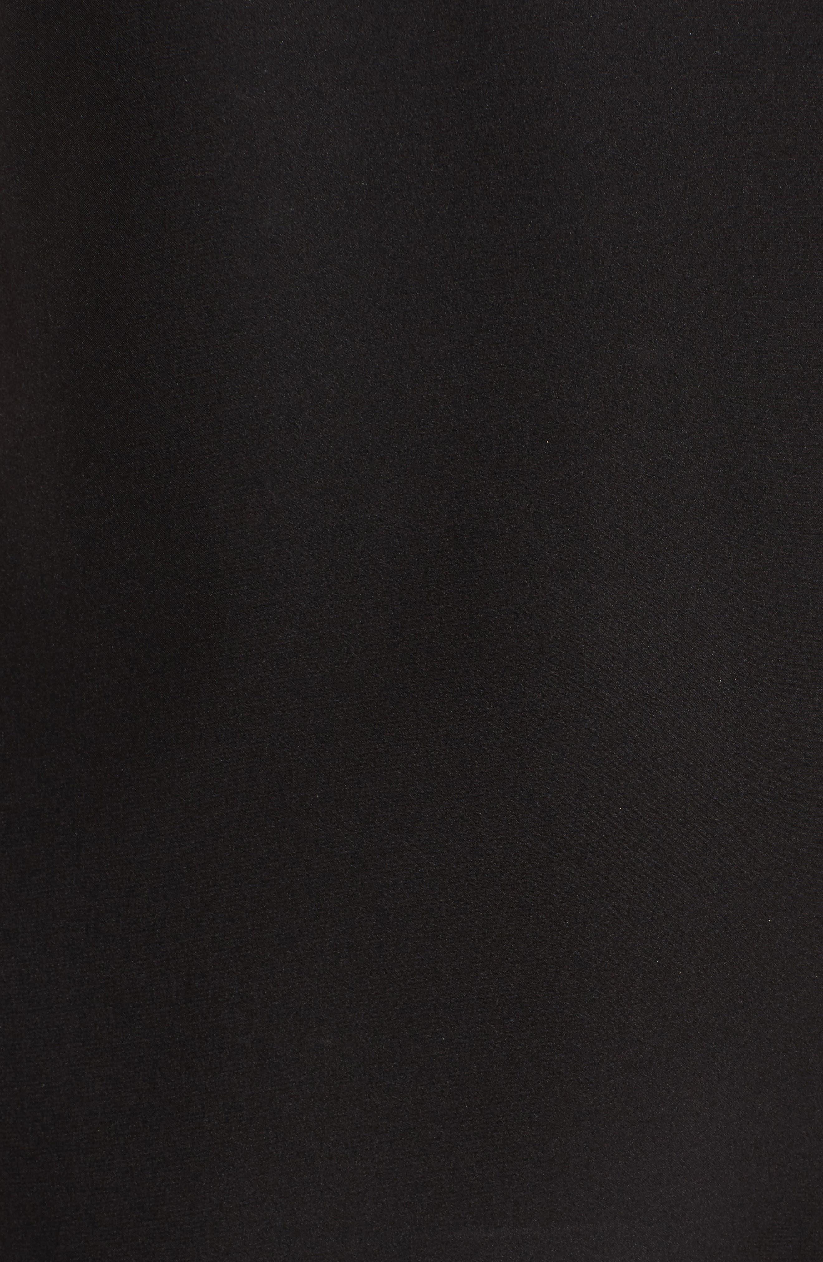 Brandie Cold Shoulder Silk Top,                             Alternate thumbnail 5, color,                             001