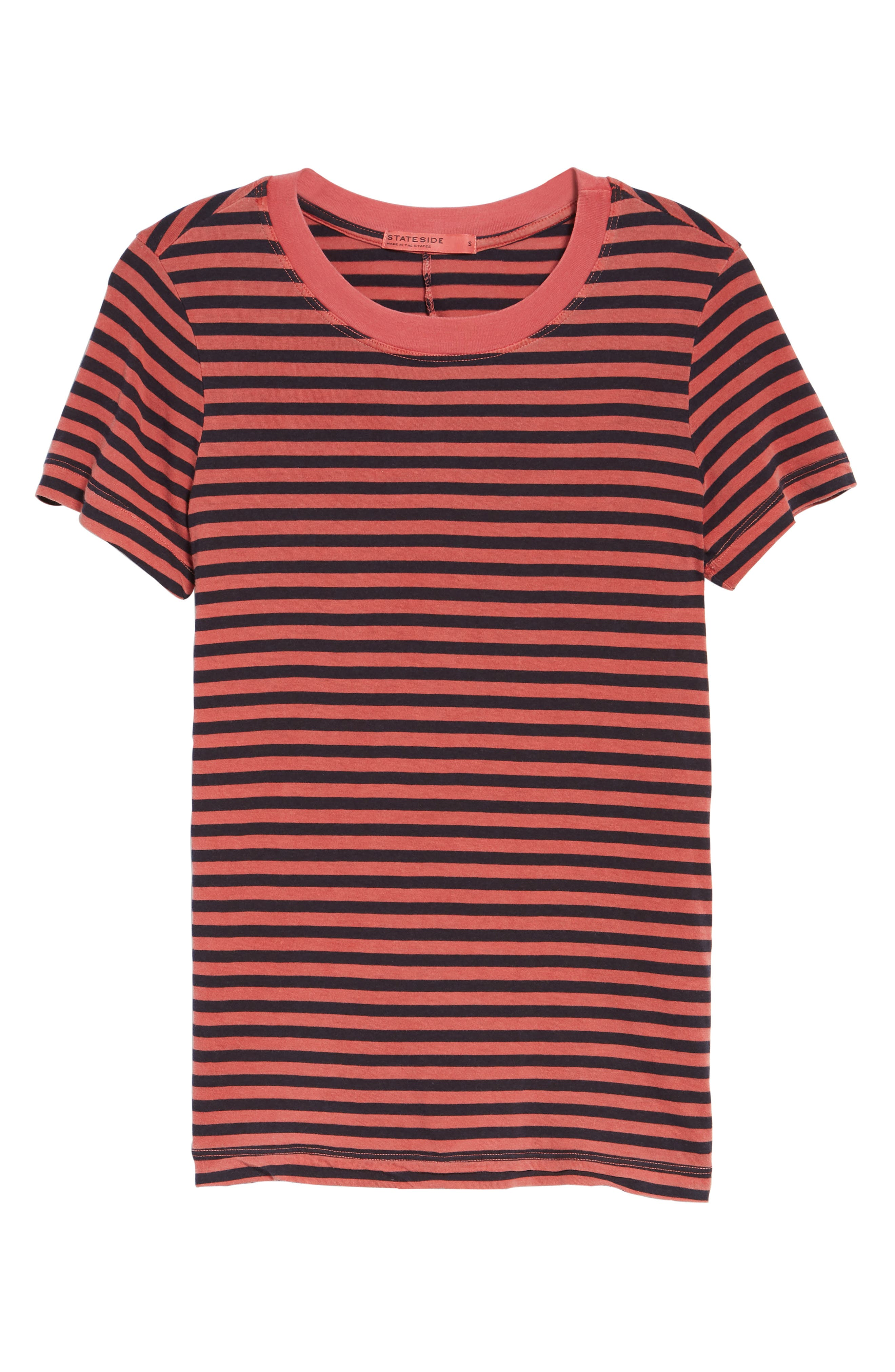 Stripe Cotton Boy Tee,                             Alternate thumbnail 6, color,                             615