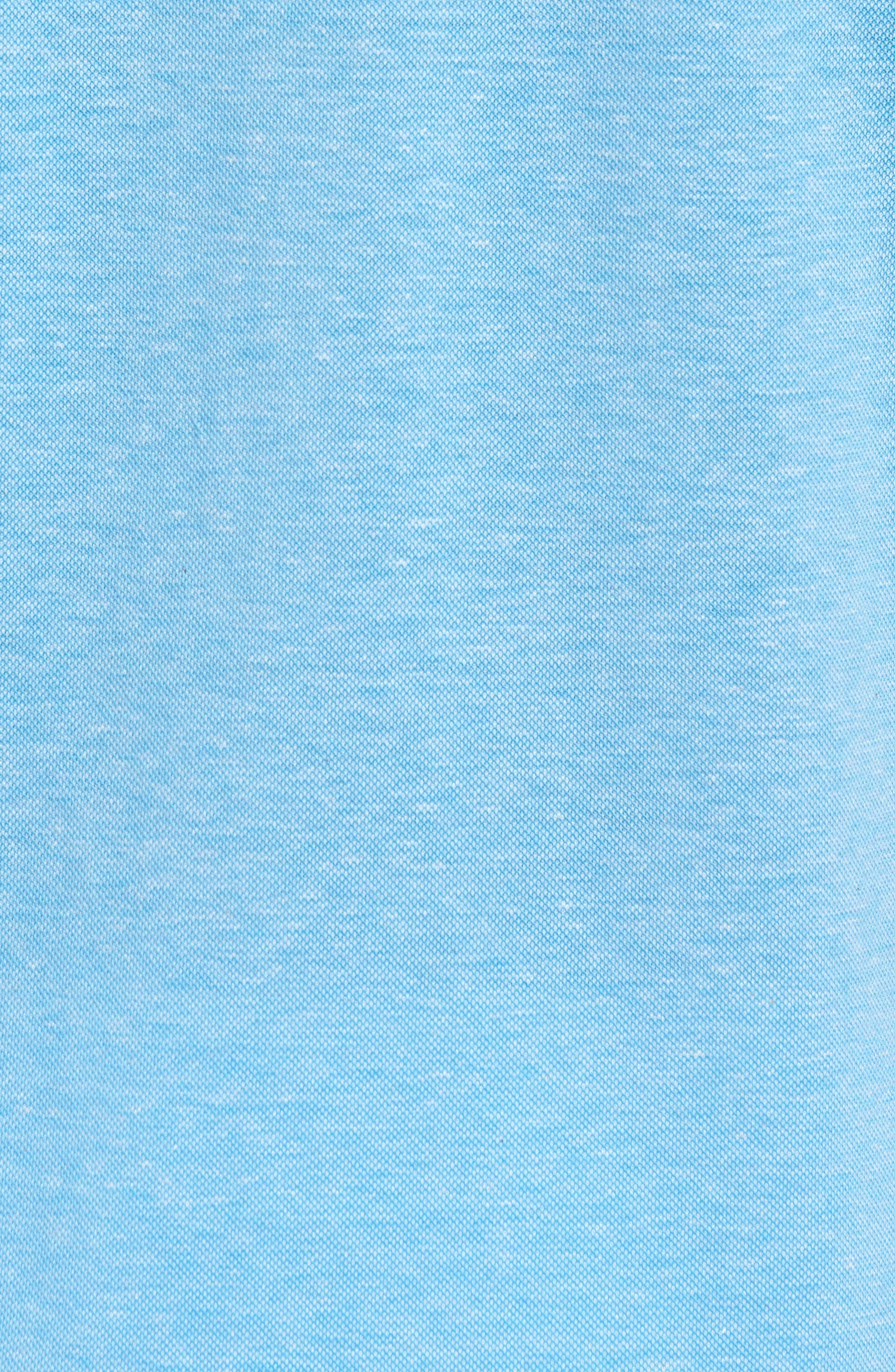 Regular Fit Heather Knit Sport Shirt,                             Alternate thumbnail 5, color,                             AIR BLUE