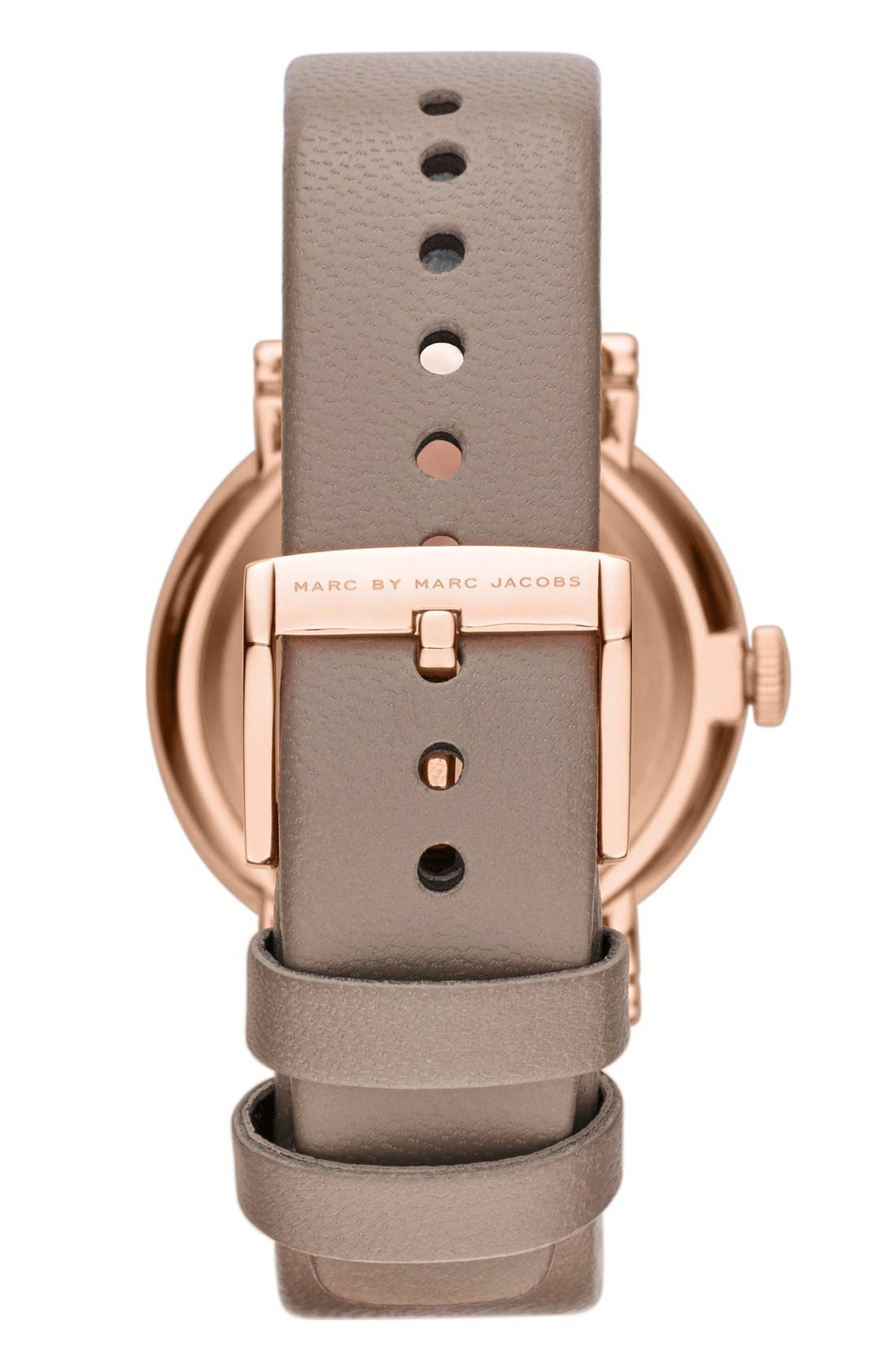 'Baker' Leather Strap Watch, 37mm,                             Alternate thumbnail 13, color,