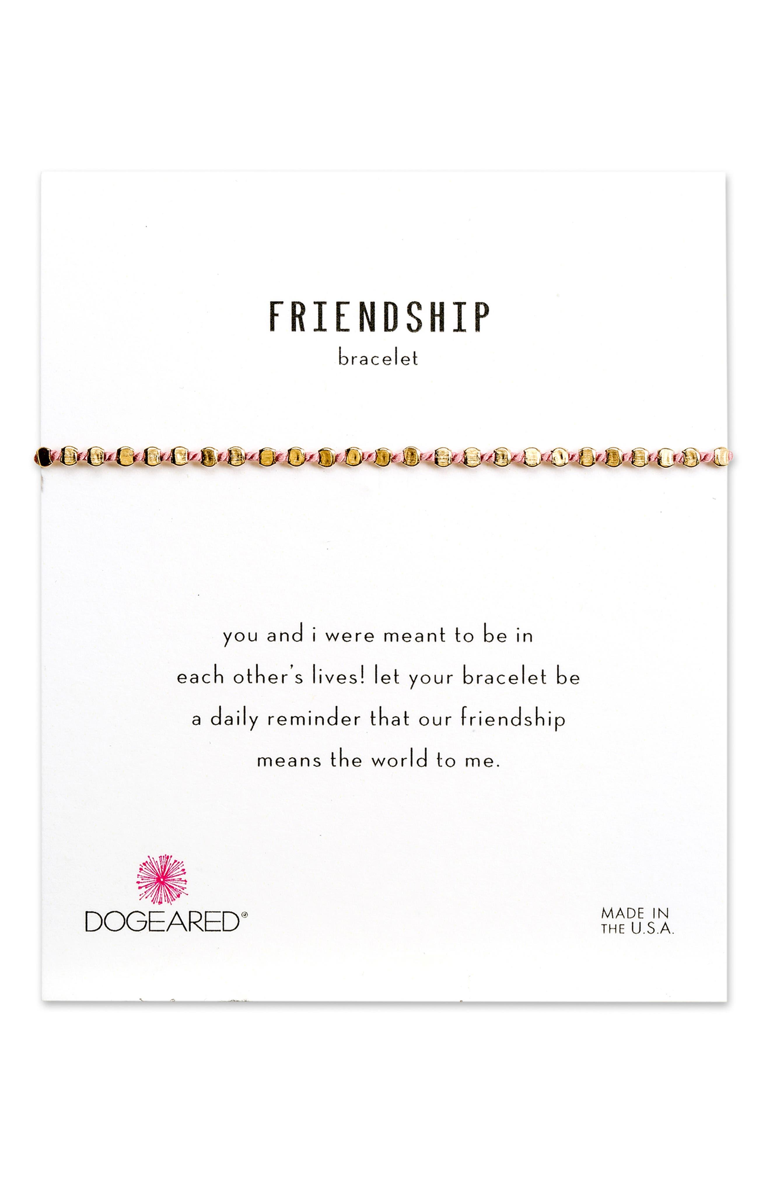 Flat Bead Pin Friendship Bracelet,                         Main,                         color, 710