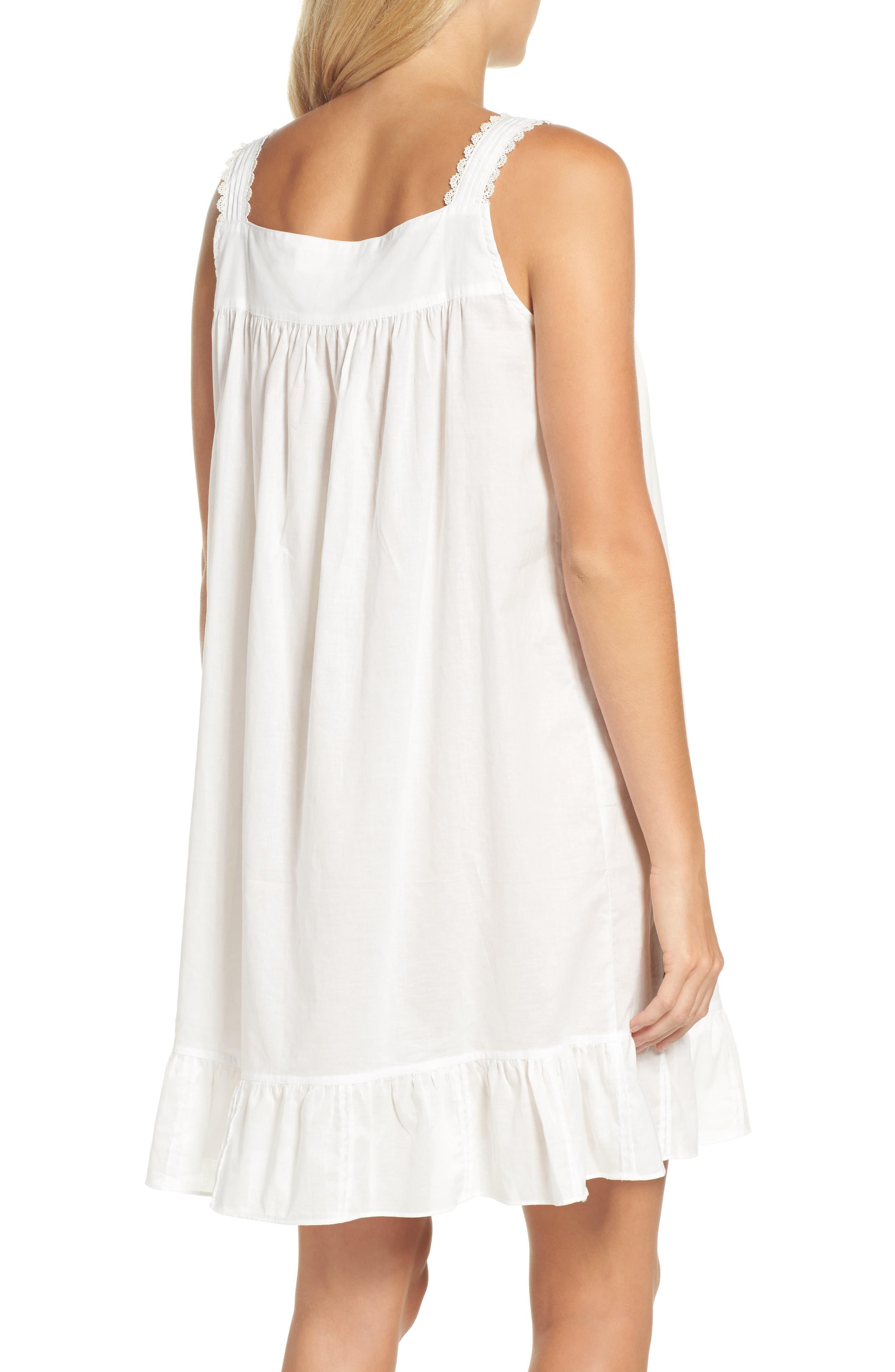 Short Lawn Nightgown,                             Alternate thumbnail 2, color,                             100