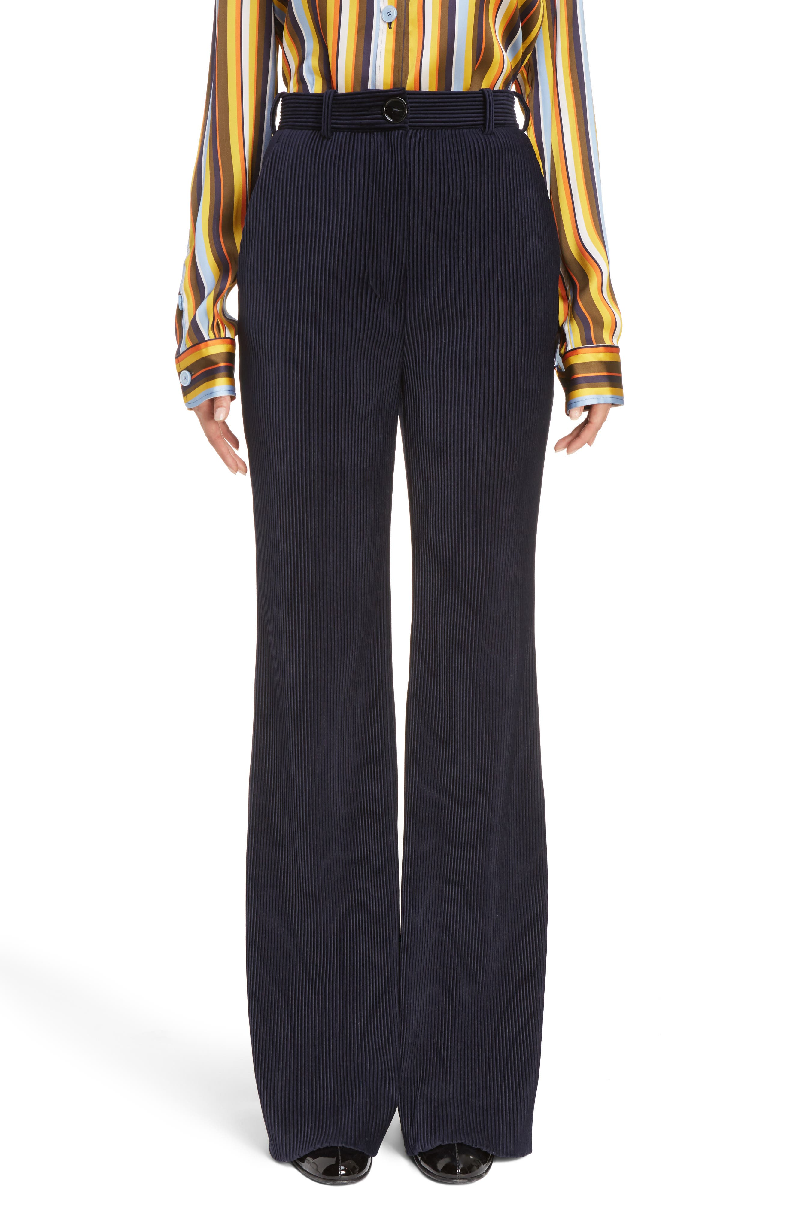Tessel Wide Leg Corduroy Pants, Main, color, 410