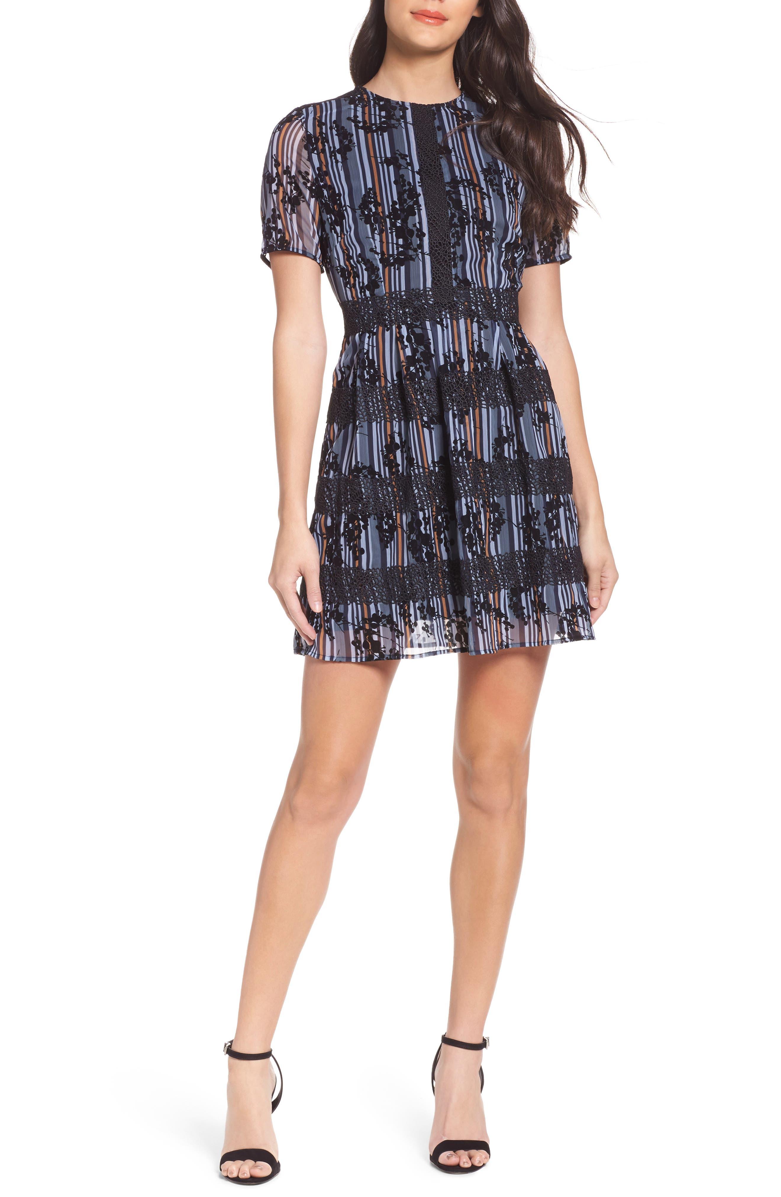 Stripe Minidress,                         Main,                         color, 400