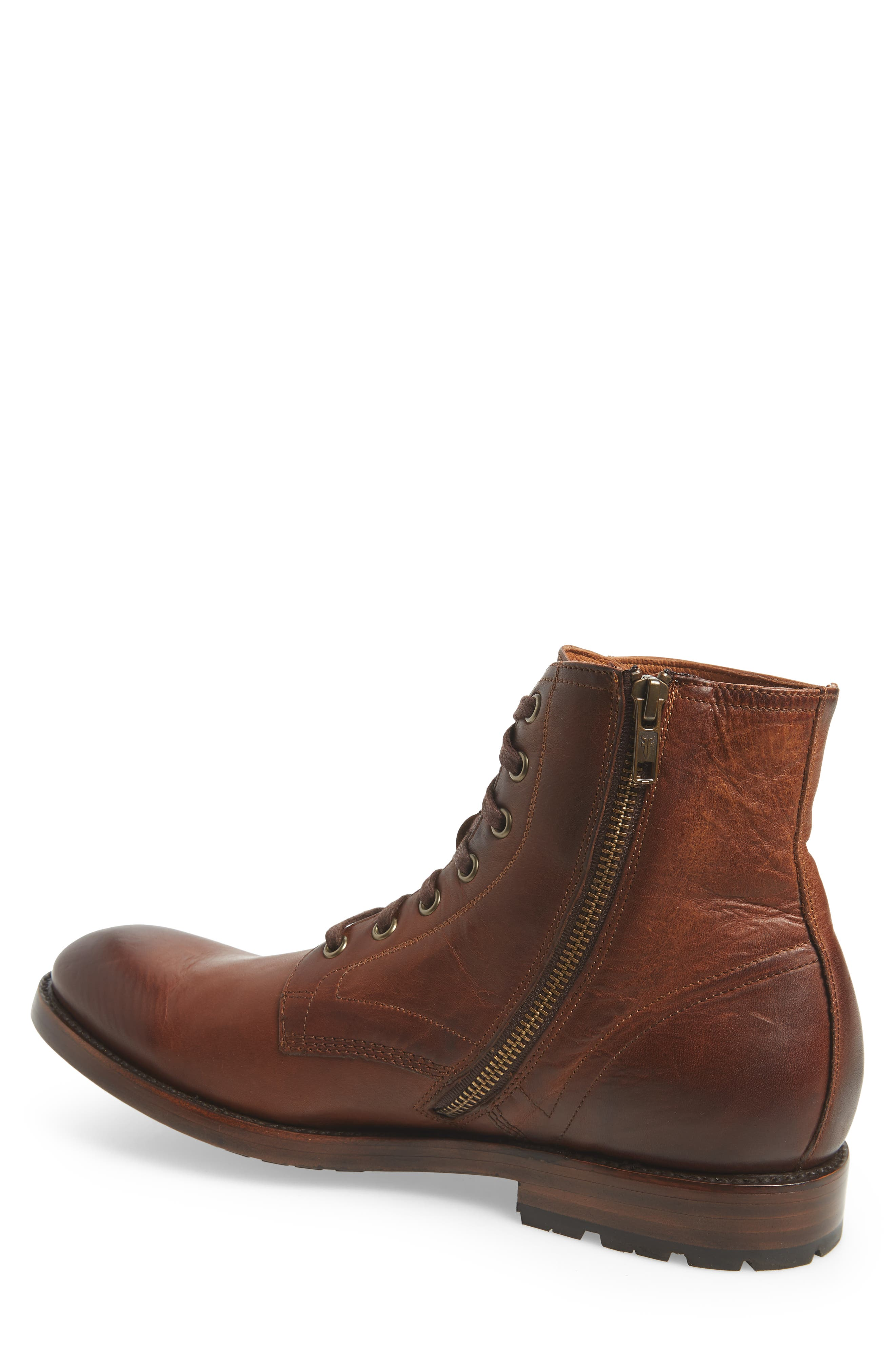 Bowery Plain Toe Boot,                             Alternate thumbnail 2, color,                             COGNAC