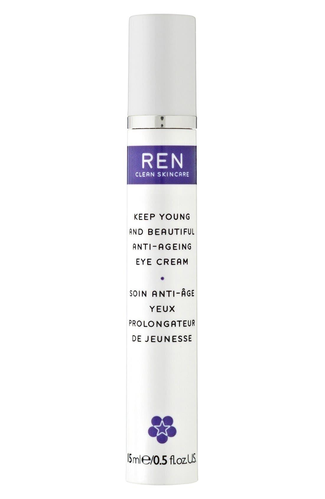SPACE.NK.apothecary REN Keep Young & Beautiful Anti-Ageing Eye Cream,                             Main thumbnail 1, color,                             000