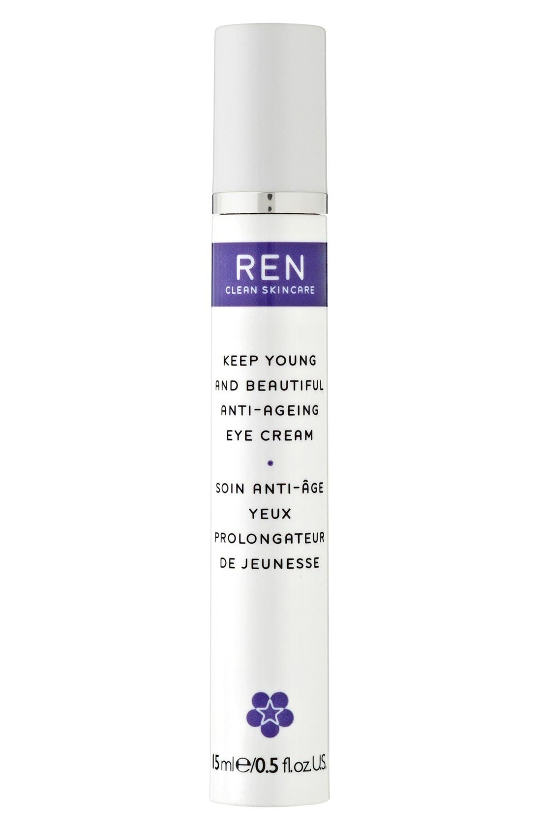 SPACE.NK.apothecary REN Keep Young & Beautiful Anti-Ageing Eye Cream,                         Main,                         color, 000