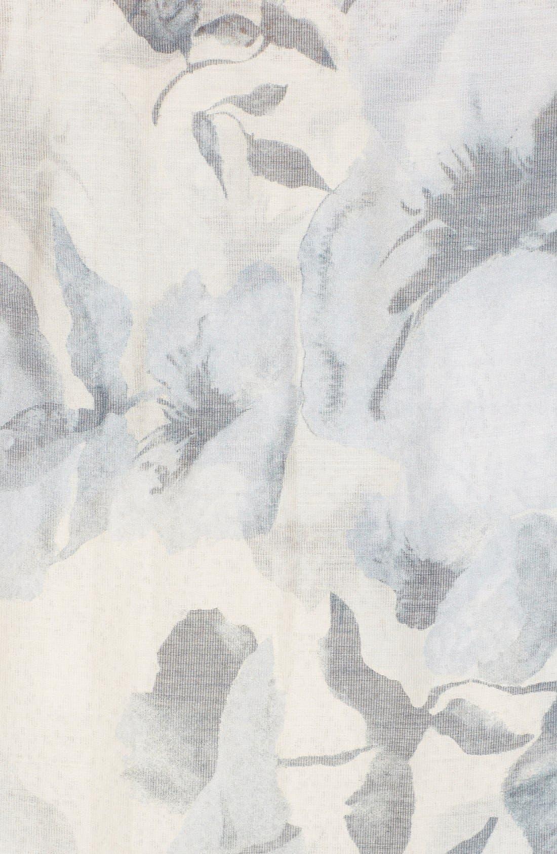 Floral Print Modal & Silk Scarf,                             Alternate thumbnail 3, color,                             250
