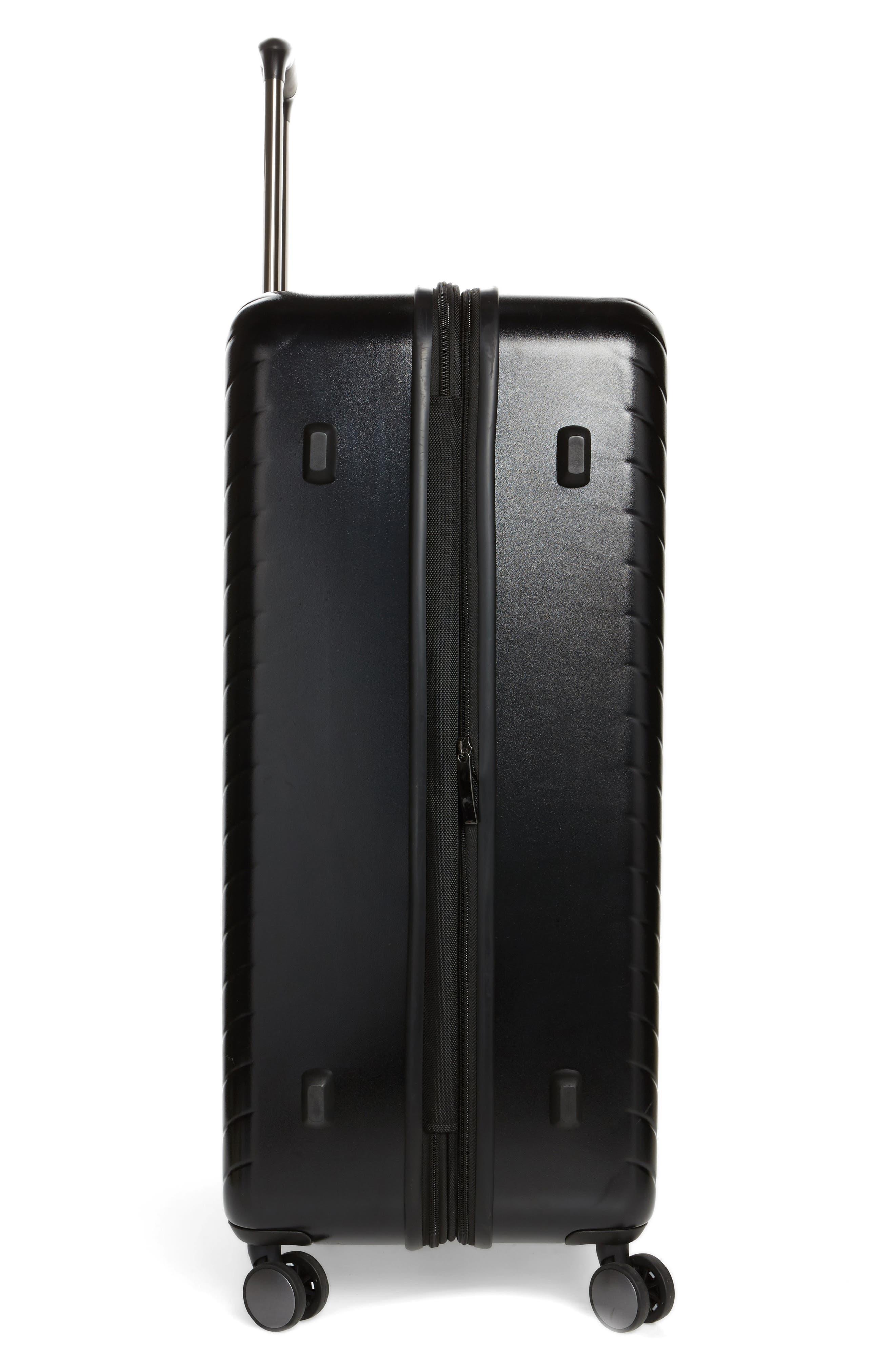 Chevron 29-Inch Spinner Suitcase,                             Alternate thumbnail 3, color,                             BLACK