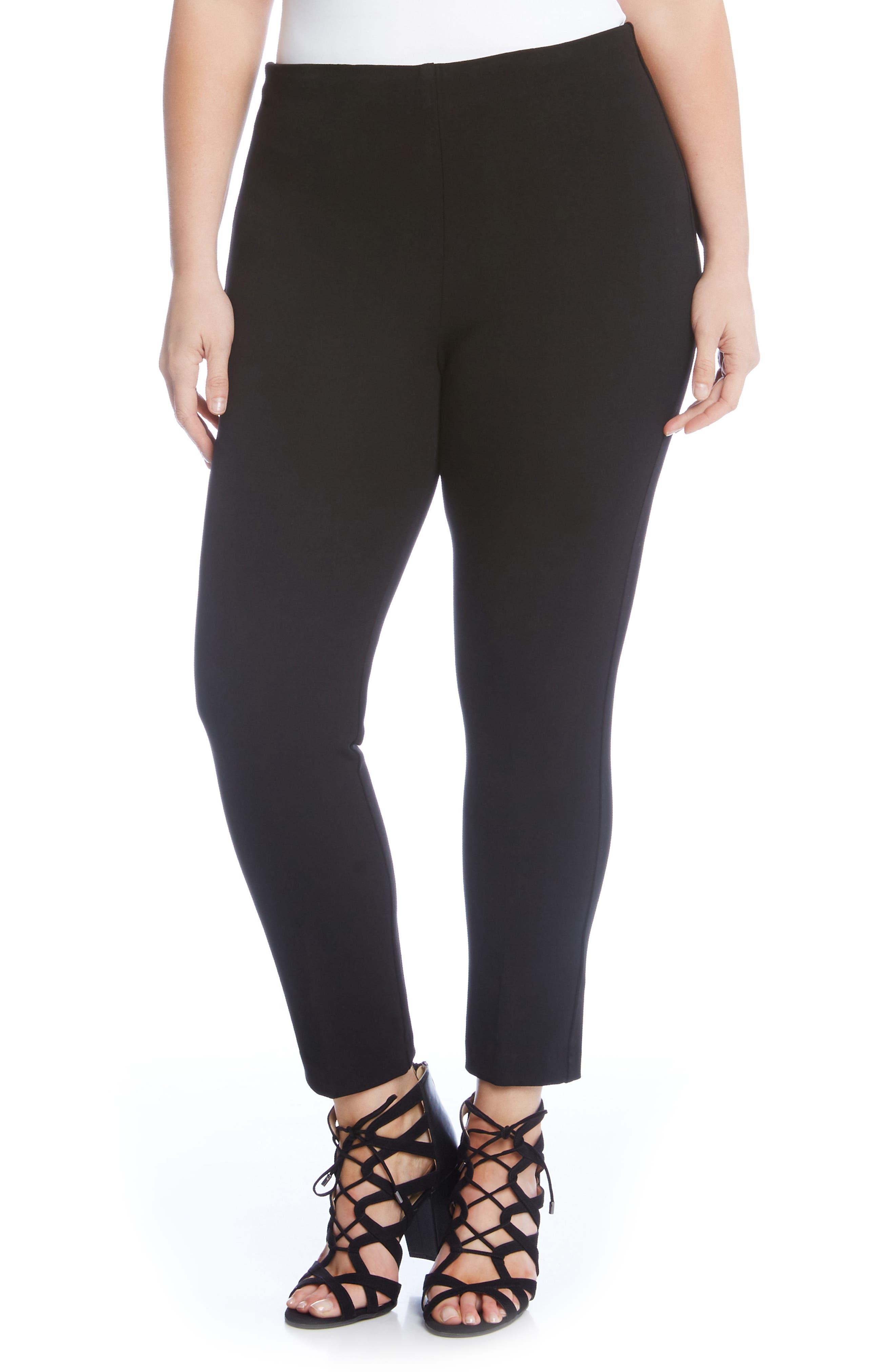 Piper Skinny Ankle Pants,                             Alternate thumbnail 3, color,                             BLACK