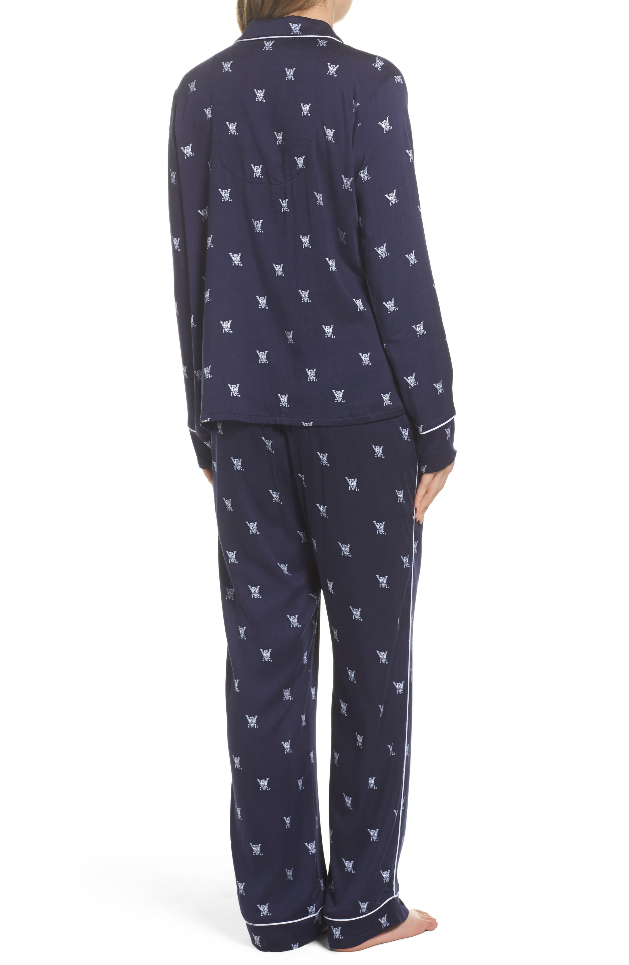 Notch Collar Pajamas,                             Alternate thumbnail 2, color,                             400