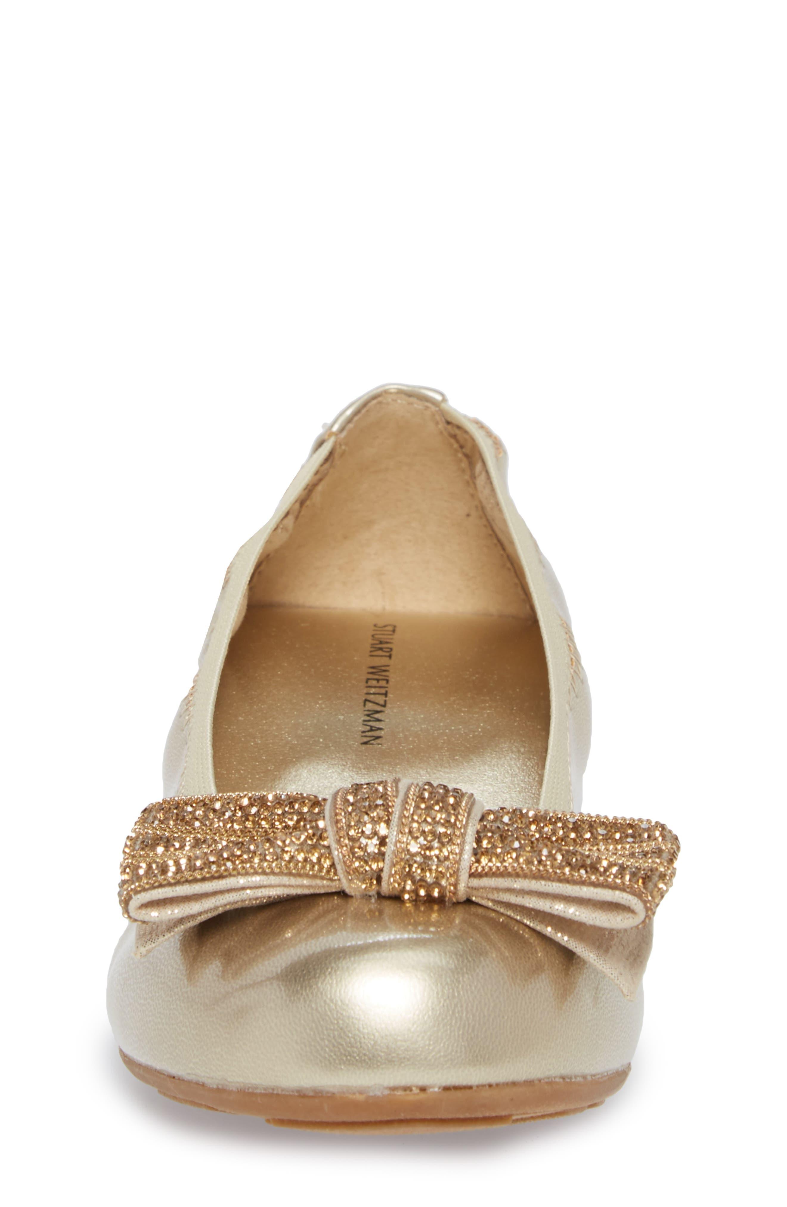Fannie Embellished Bow Ballet Flat,                             Alternate thumbnail 12, color,