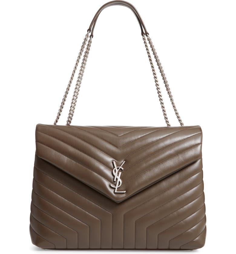 bb5fc9f48c63 Saint Laurent Large Loulou Matelassé Leather Shoulder Bag