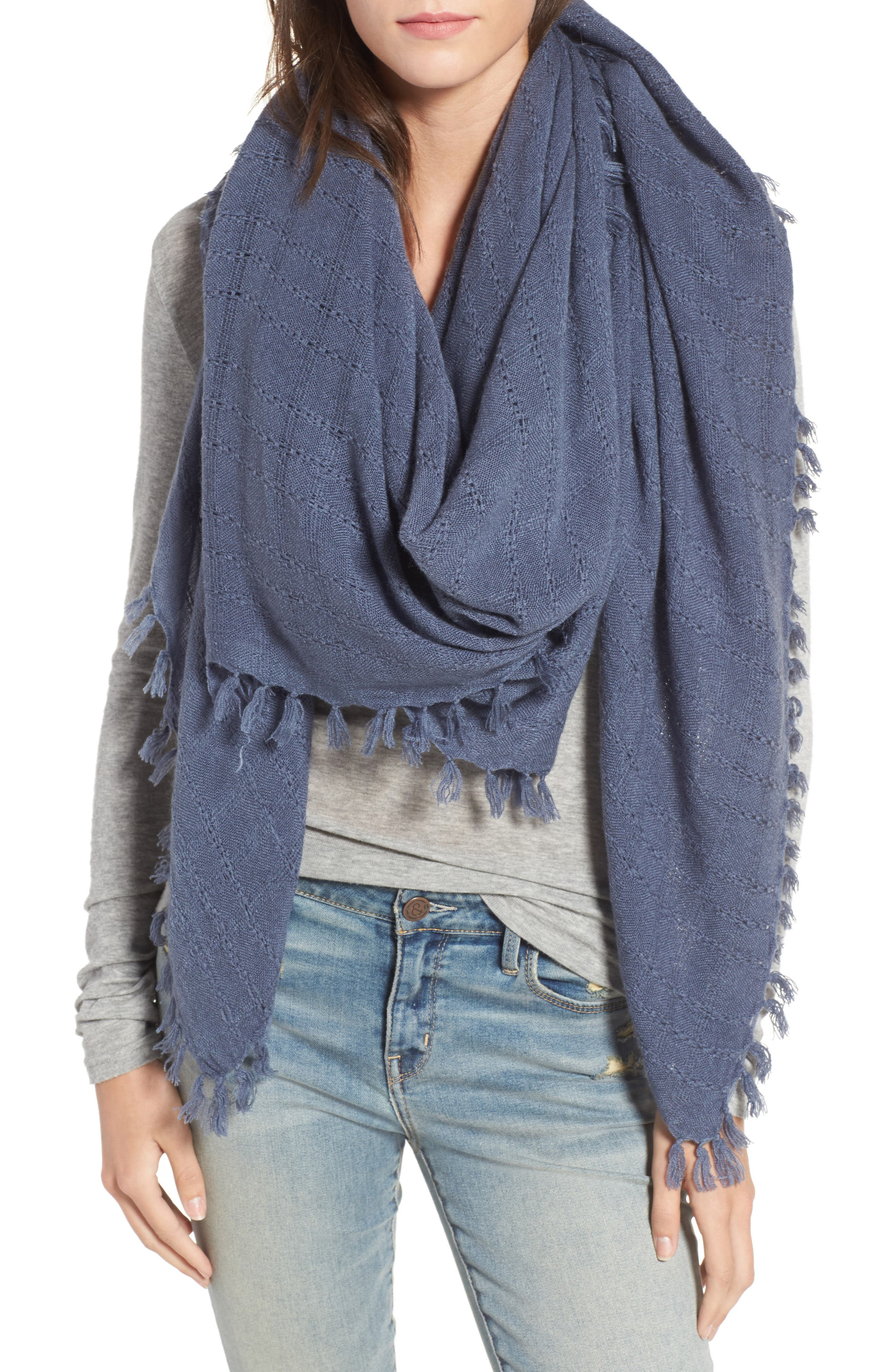 Knotted Tassel Scarf,                             Main thumbnail 3, color,
