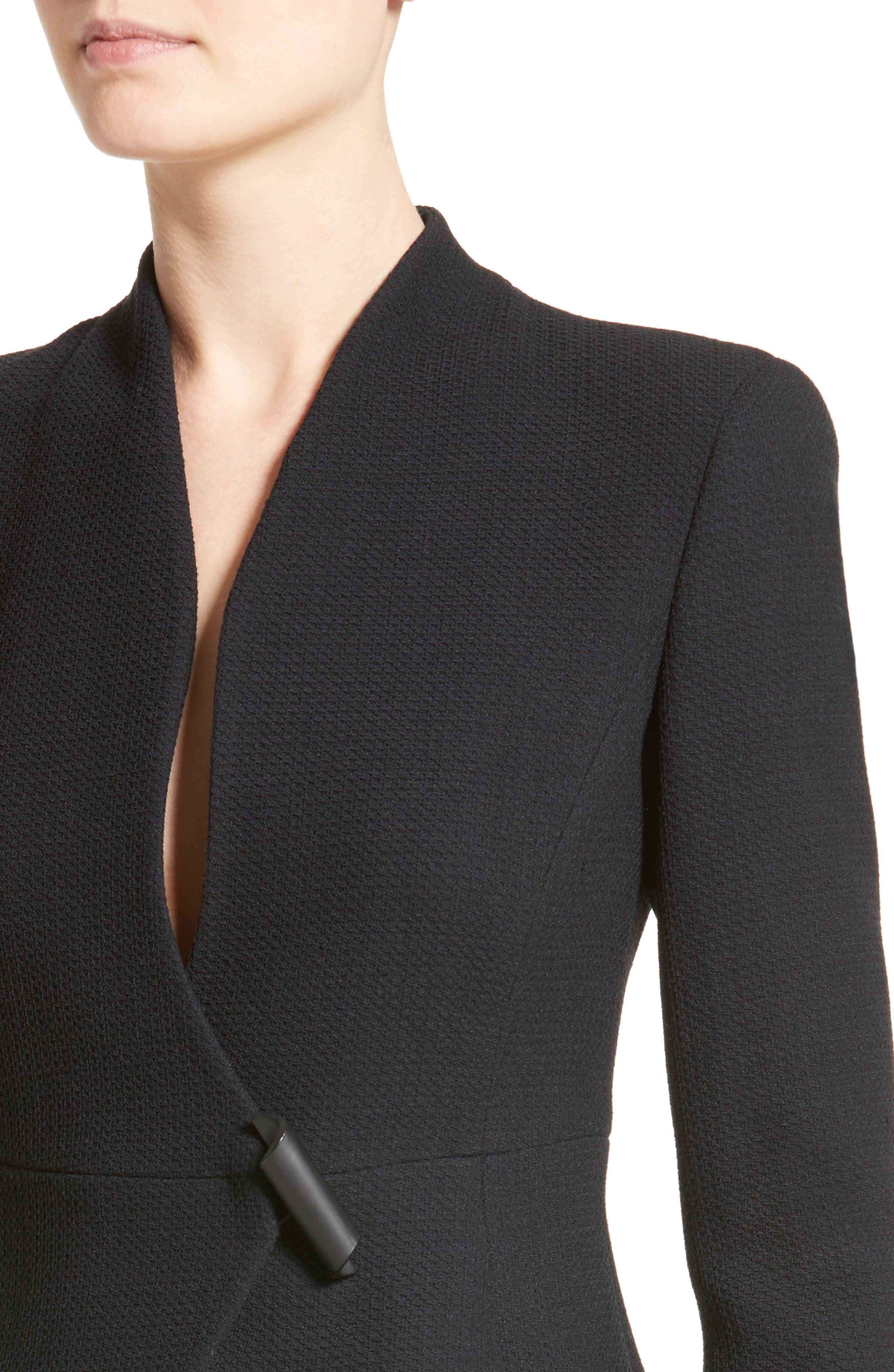 Textured Stretch Wool Jacket,                             Alternate thumbnail 4, color,                             001