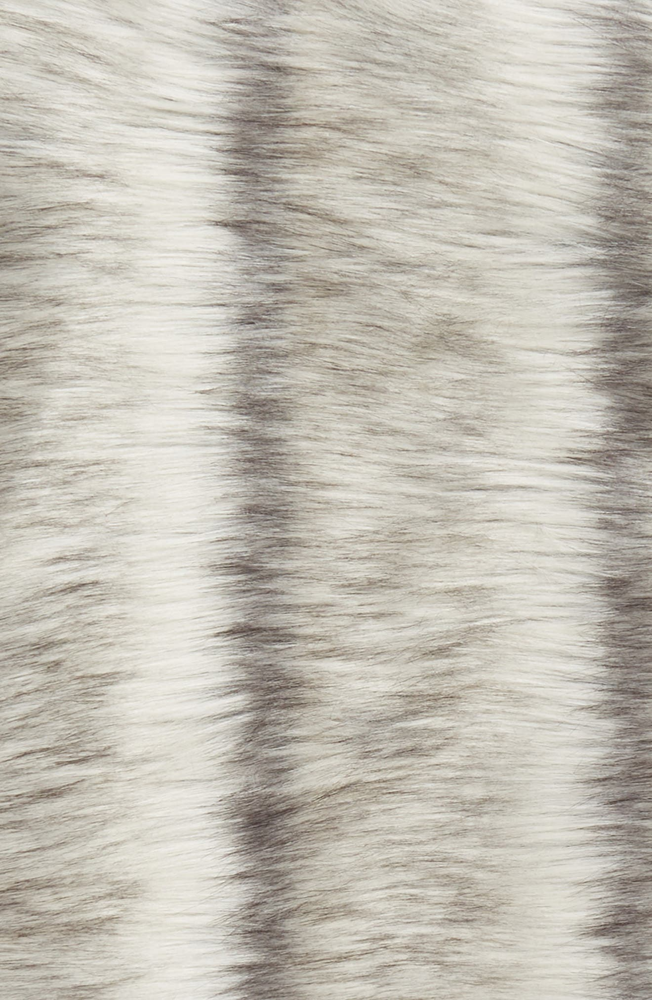 Luxe Faux Fur Stripe Throw Blanket,                             Alternate thumbnail 2, color,                             GREY FROST MULTI