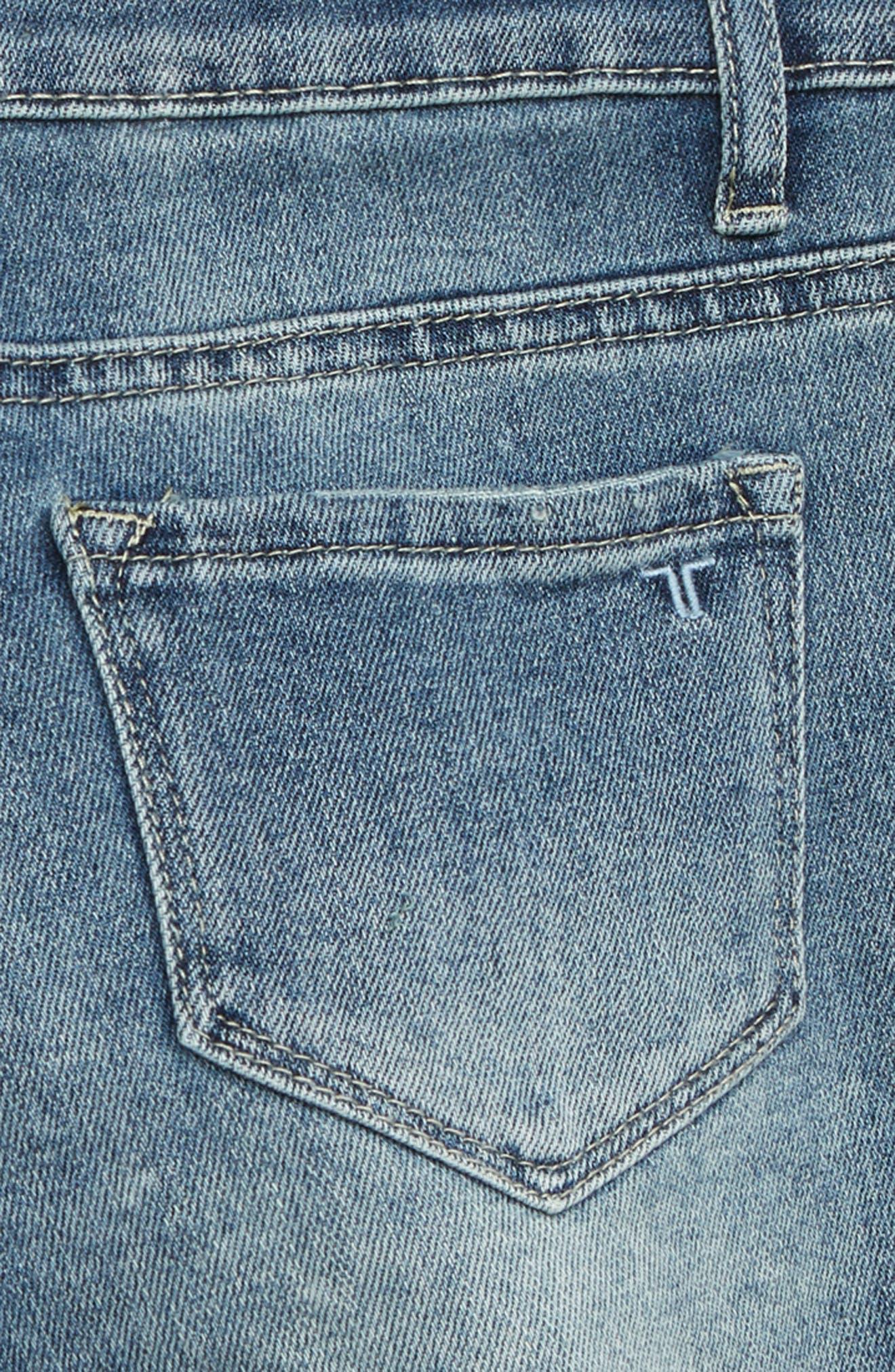 TRACTR,                             Cutoff Denim Shorts,                             Alternate thumbnail 3, color,                             INDIGO