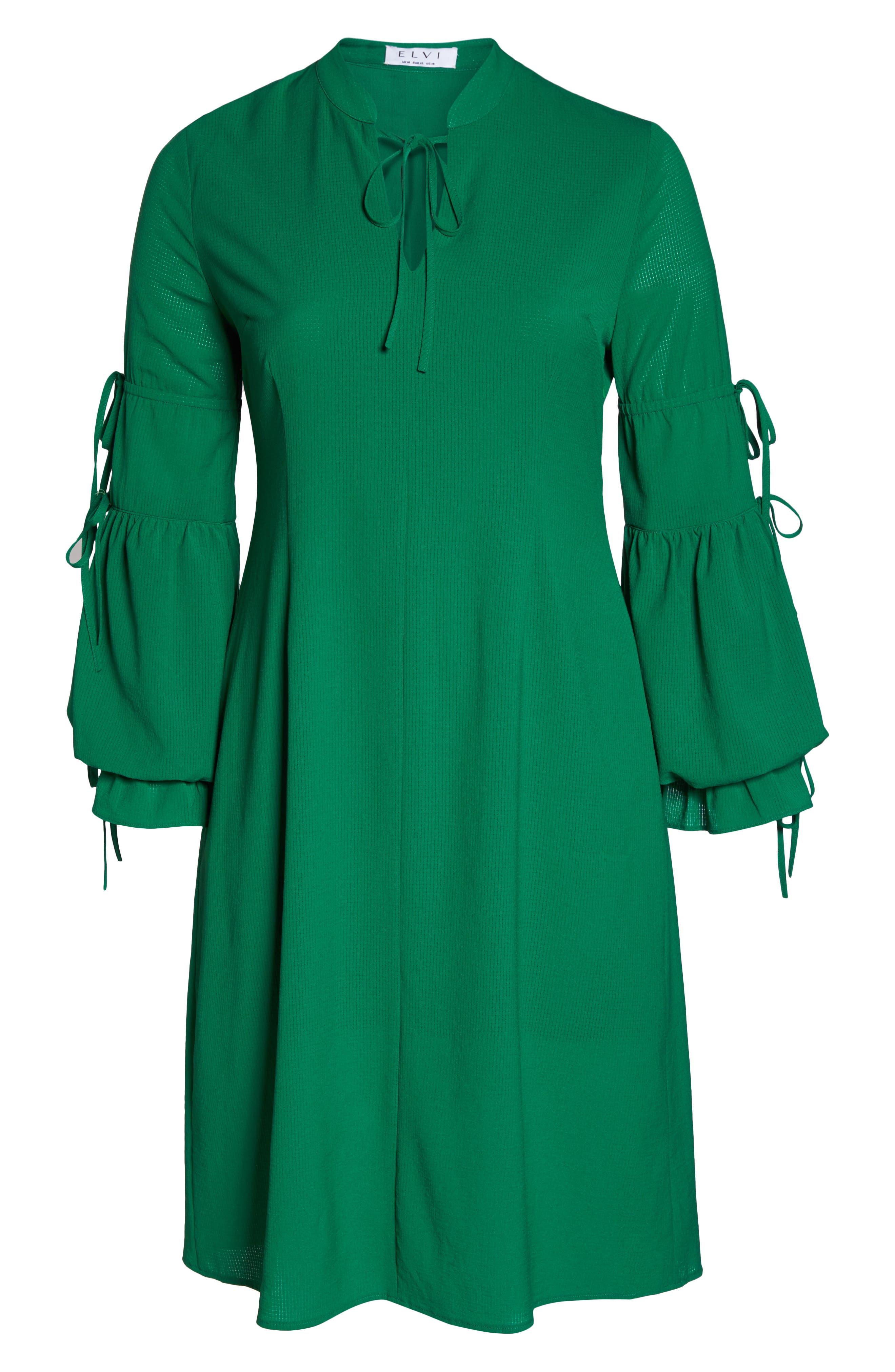 Leiko Antoinette Puff Sleeve Tea Dress,                             Alternate thumbnail 6, color,                             300