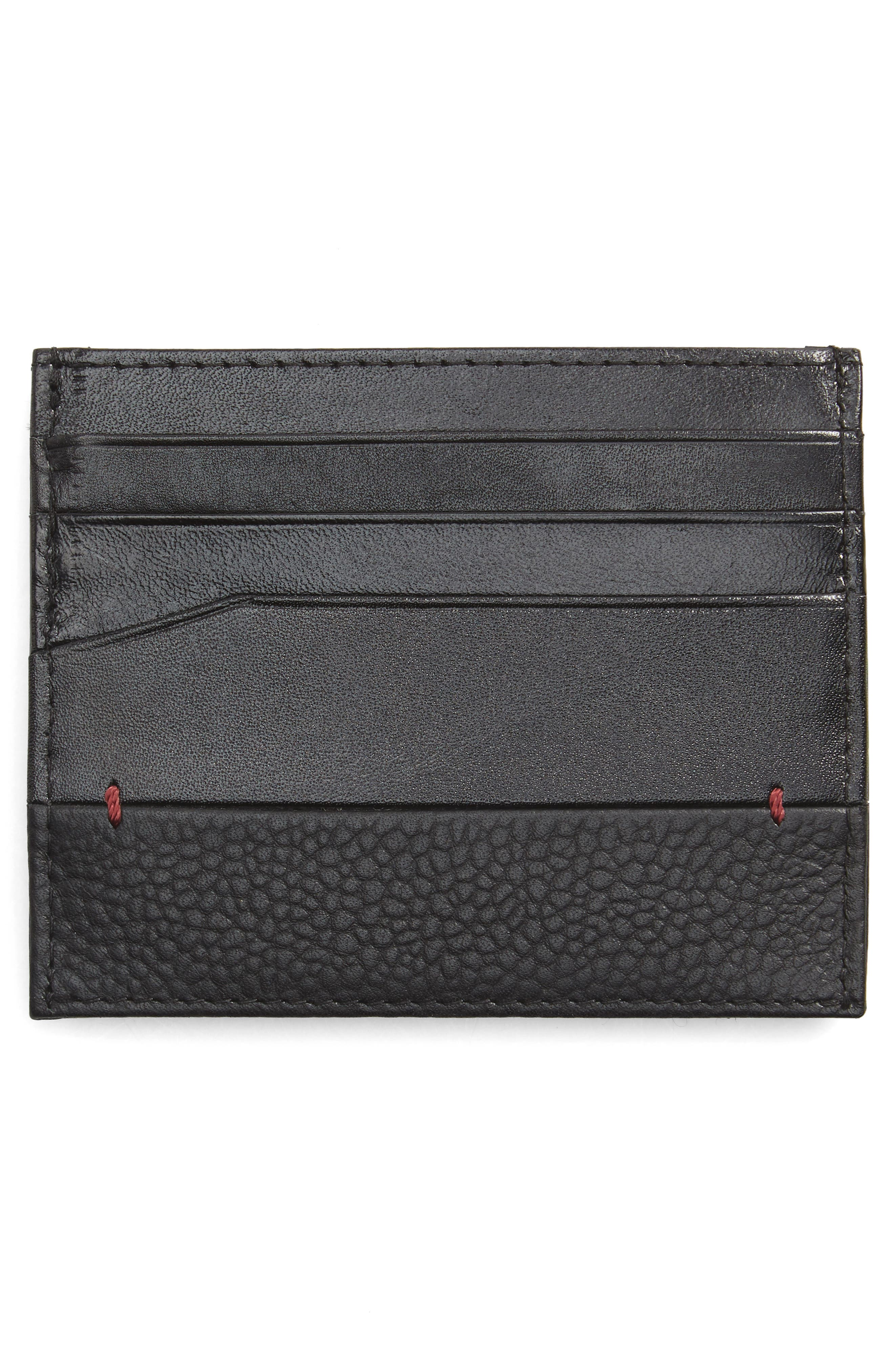 Slippry Leather Card Case,                             Alternate thumbnail 2, color,                             001
