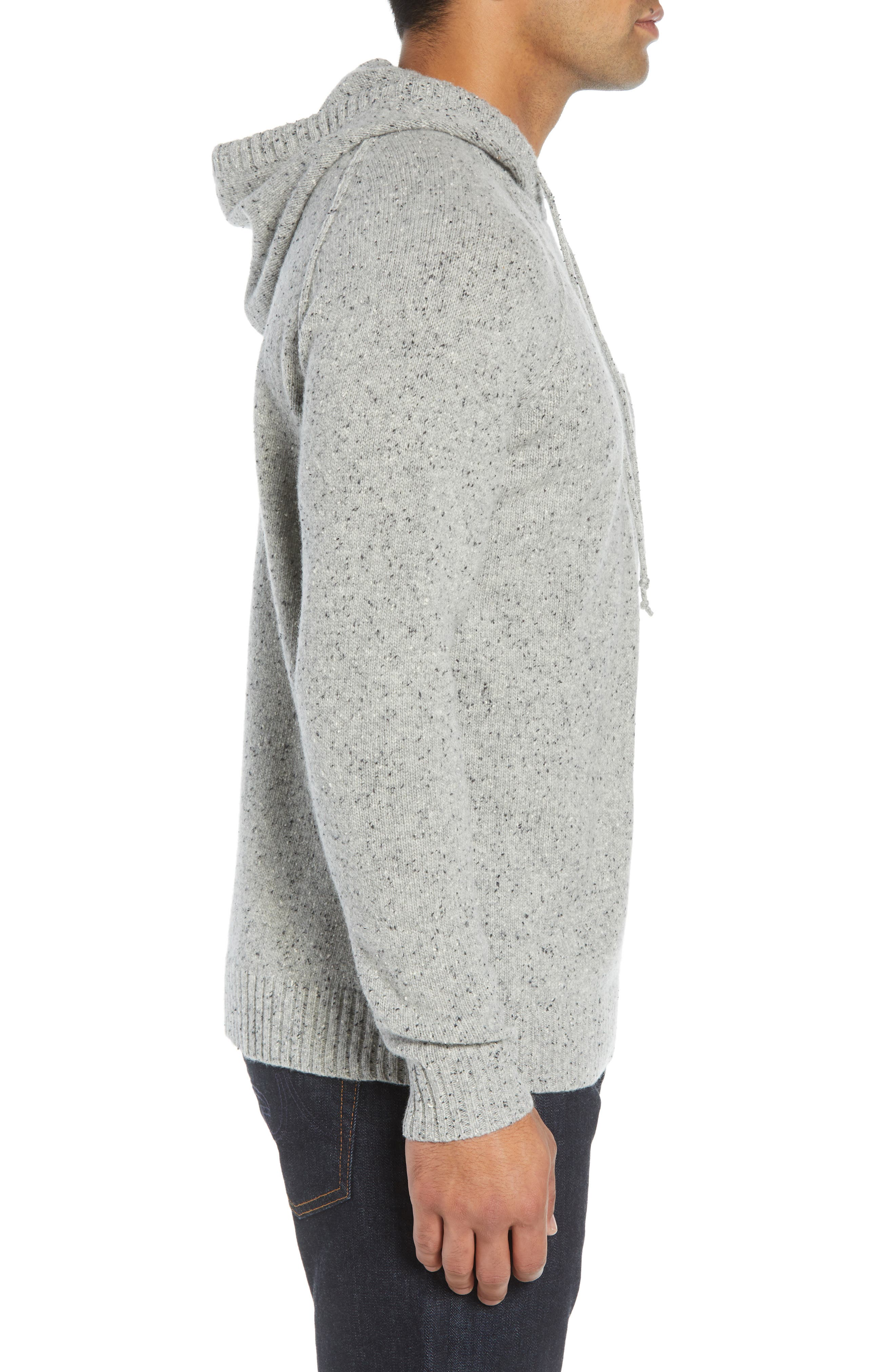 Rule 18 Donegal Regular Fit Hooded Sweater,                             Alternate thumbnail 3, color,                             GREY