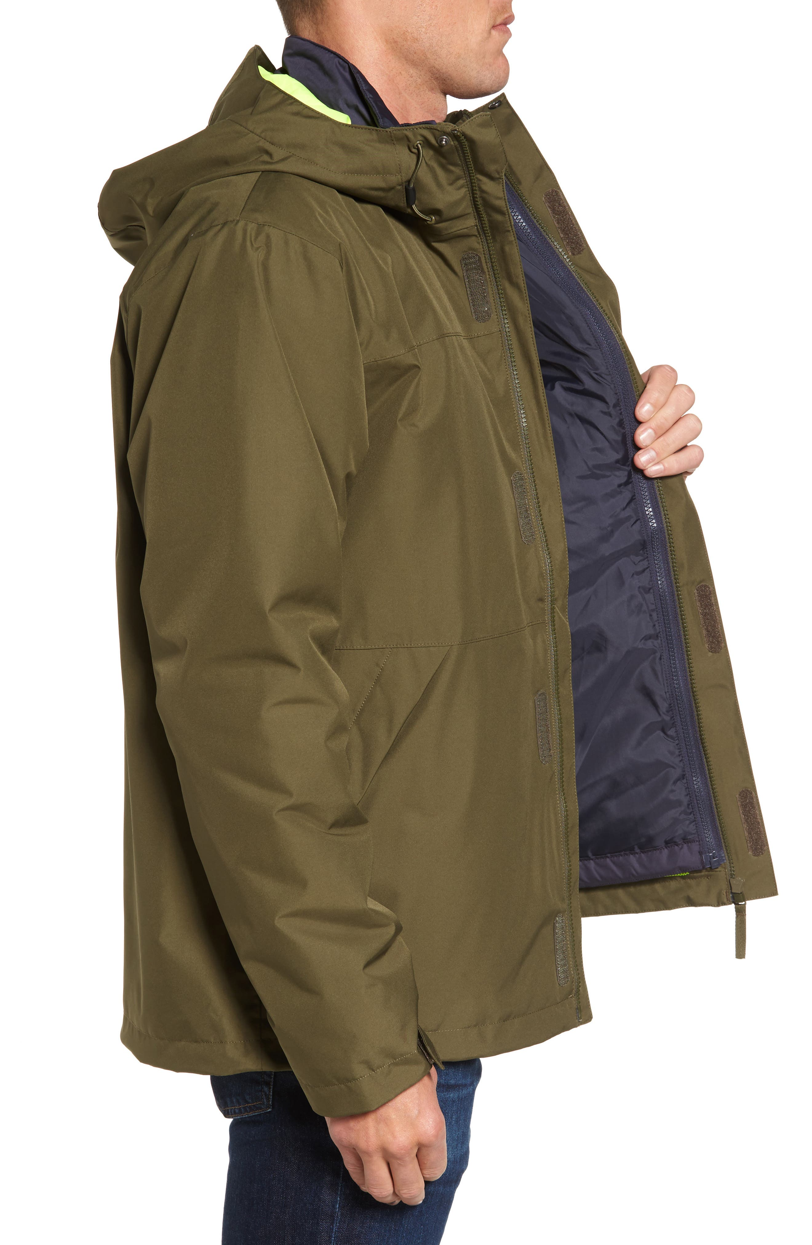 Squamish 3-in-1 Water Repellent Hooded Jacket,                             Alternate thumbnail 3, color,                             391