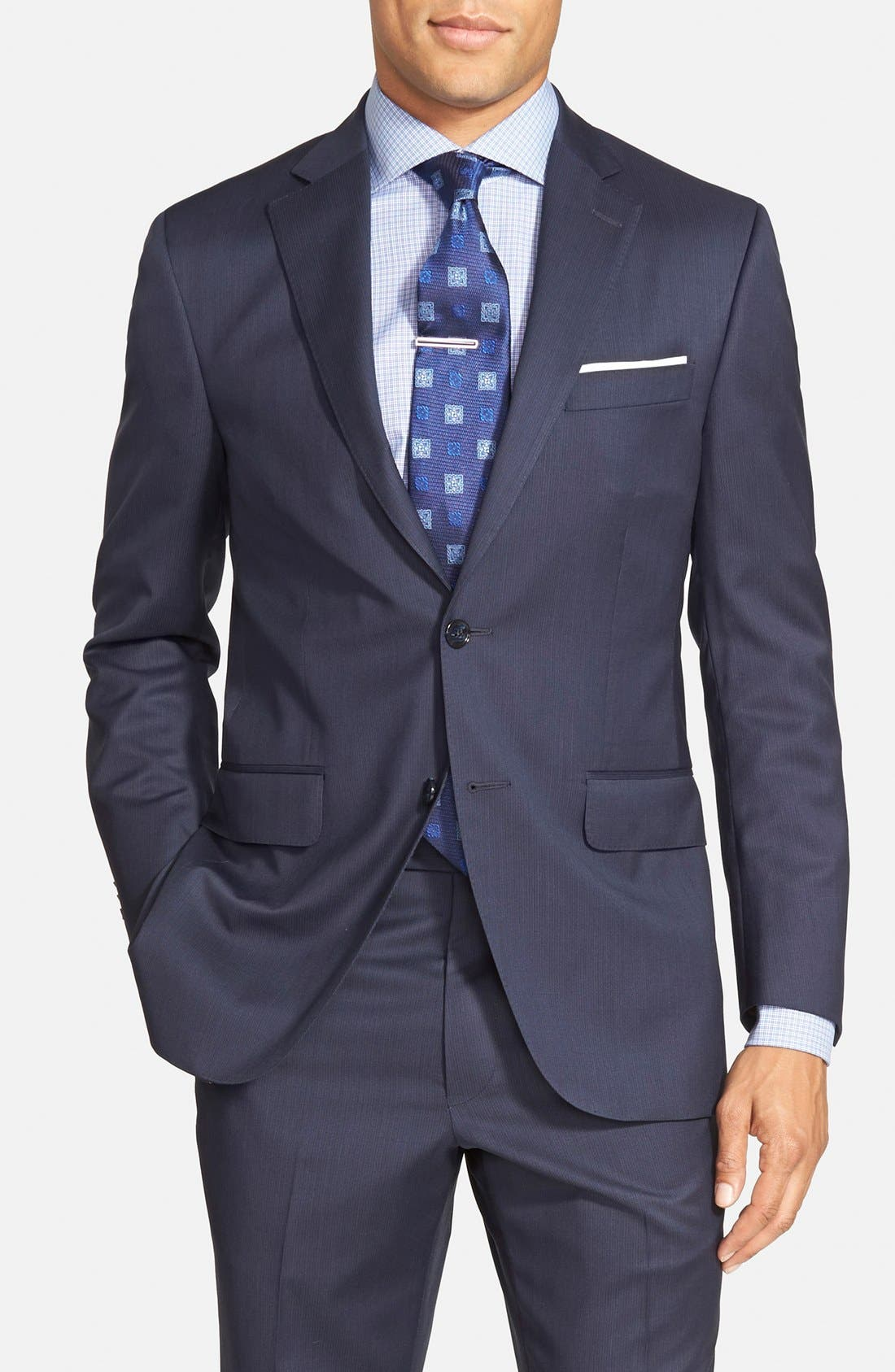 'Flynn' Classic Fit Wool Suit,                             Alternate thumbnail 3, color,                             410