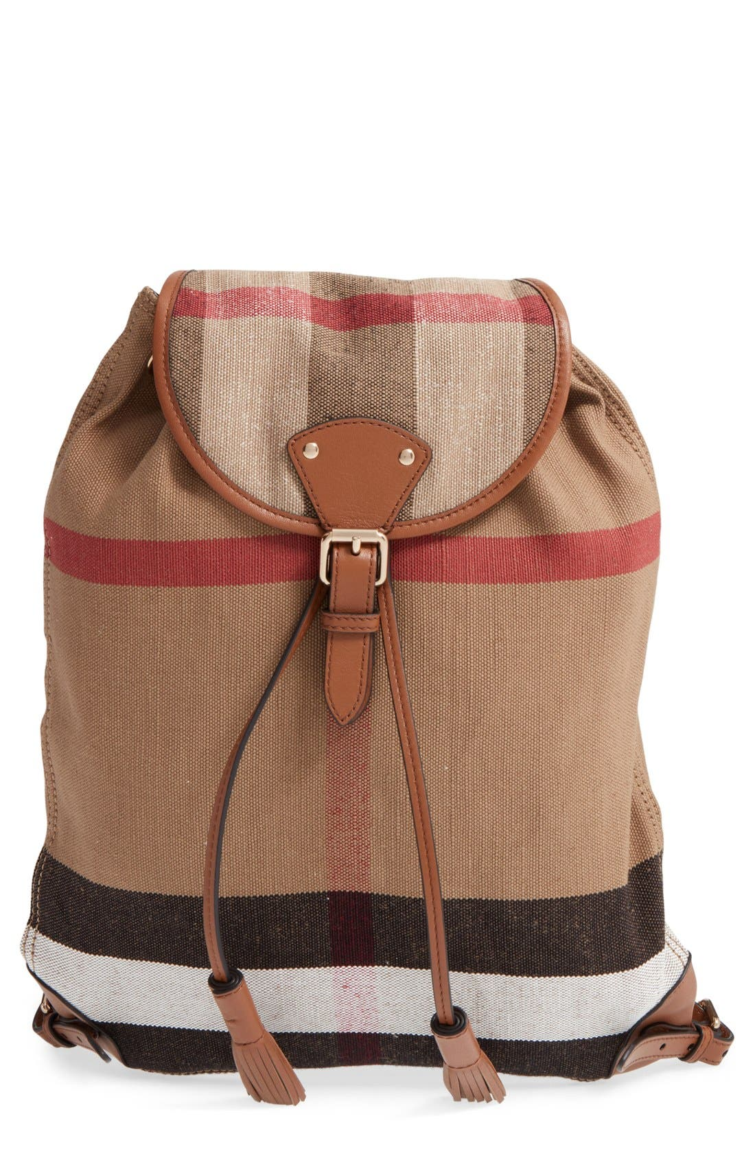 'Chiltern' Check Print Backpack, Main, color, 200