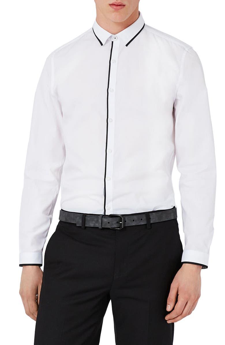 Topman Slim Fit Contrast Dress Shirt Nordstrom