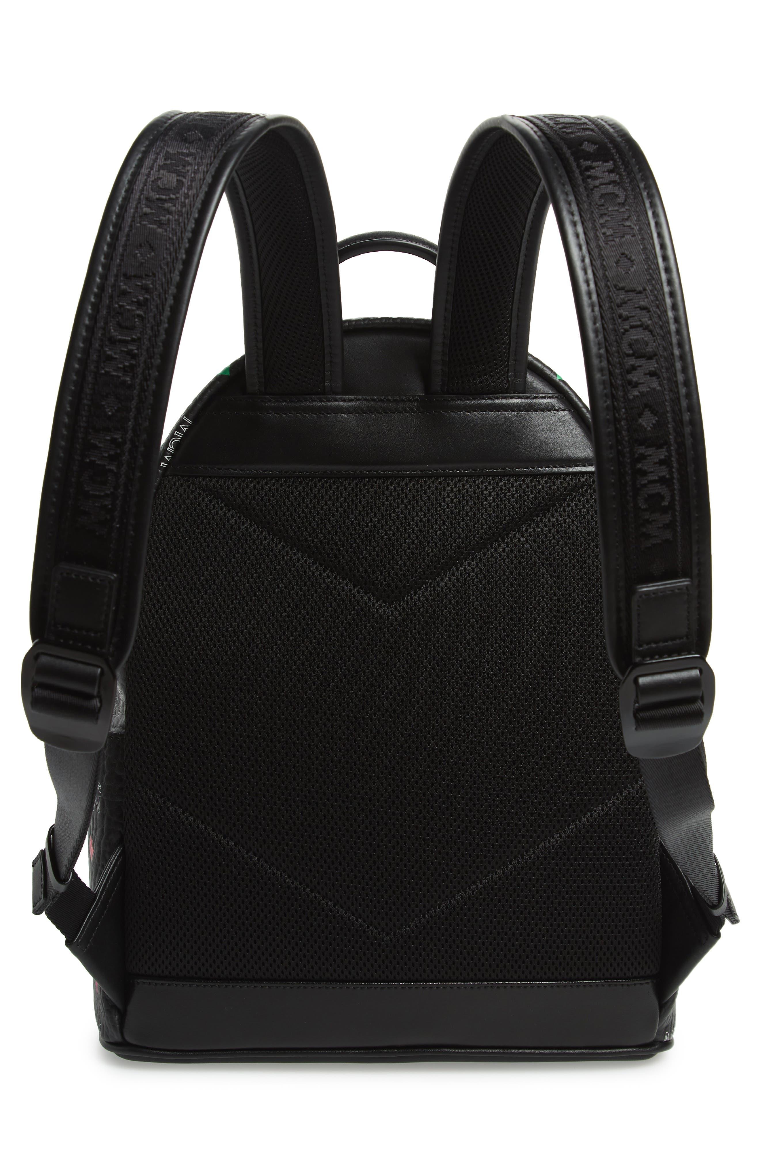MCM,                             Small Stark Spektrum Backpack,                             Alternate thumbnail 3, color,                             SPECTRUM DIAMOND BLACK